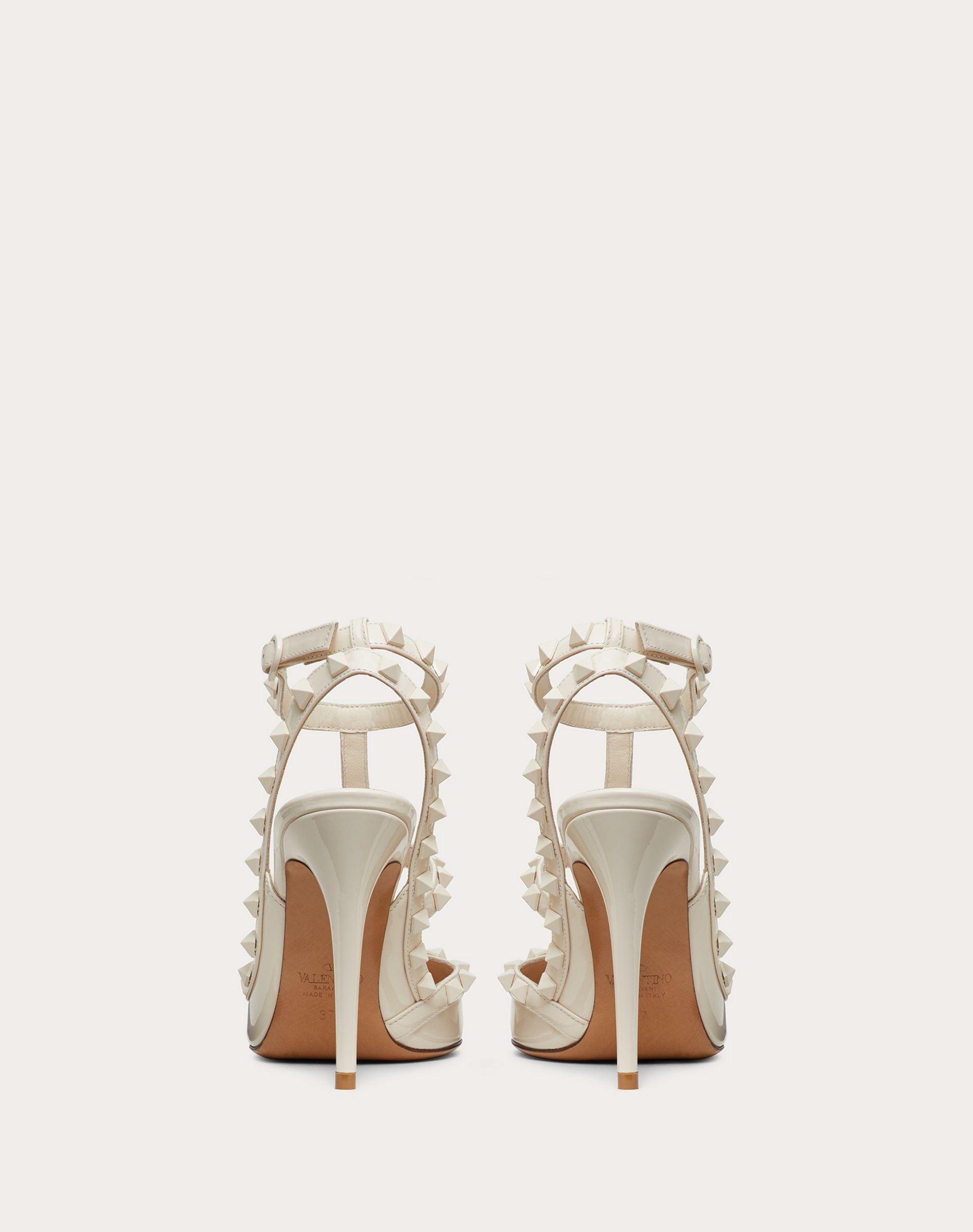 ROCKSTUD ANKLE STRAP PATENT-LEATHER PUMP WITH TONAL STUDS 100 MM 2