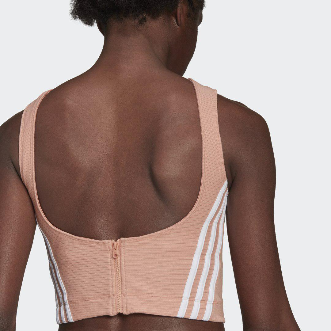 Sportswear Cropped Ribbed Tank Top Ambient Blush 2