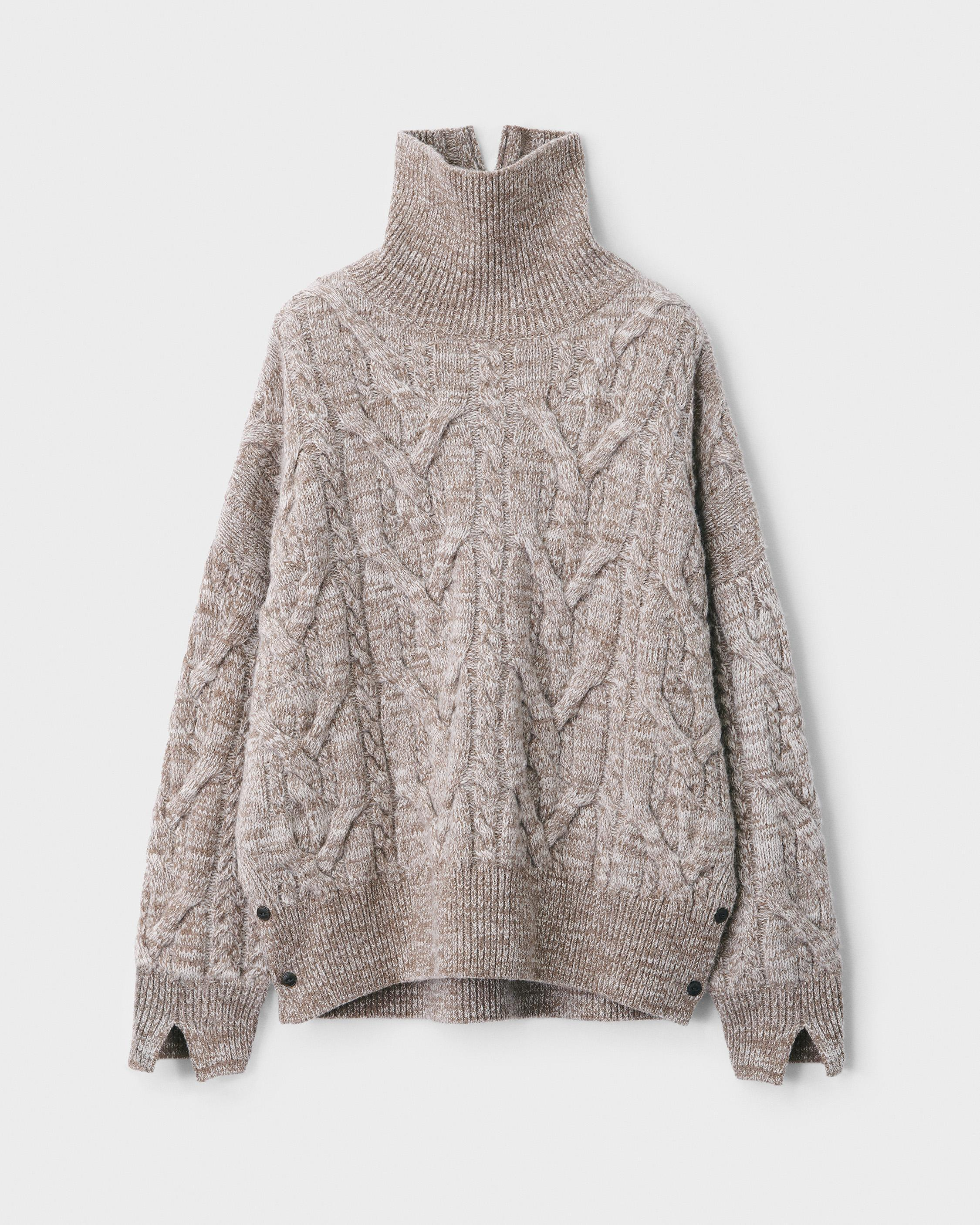 Nora cable wool turtleneck 4