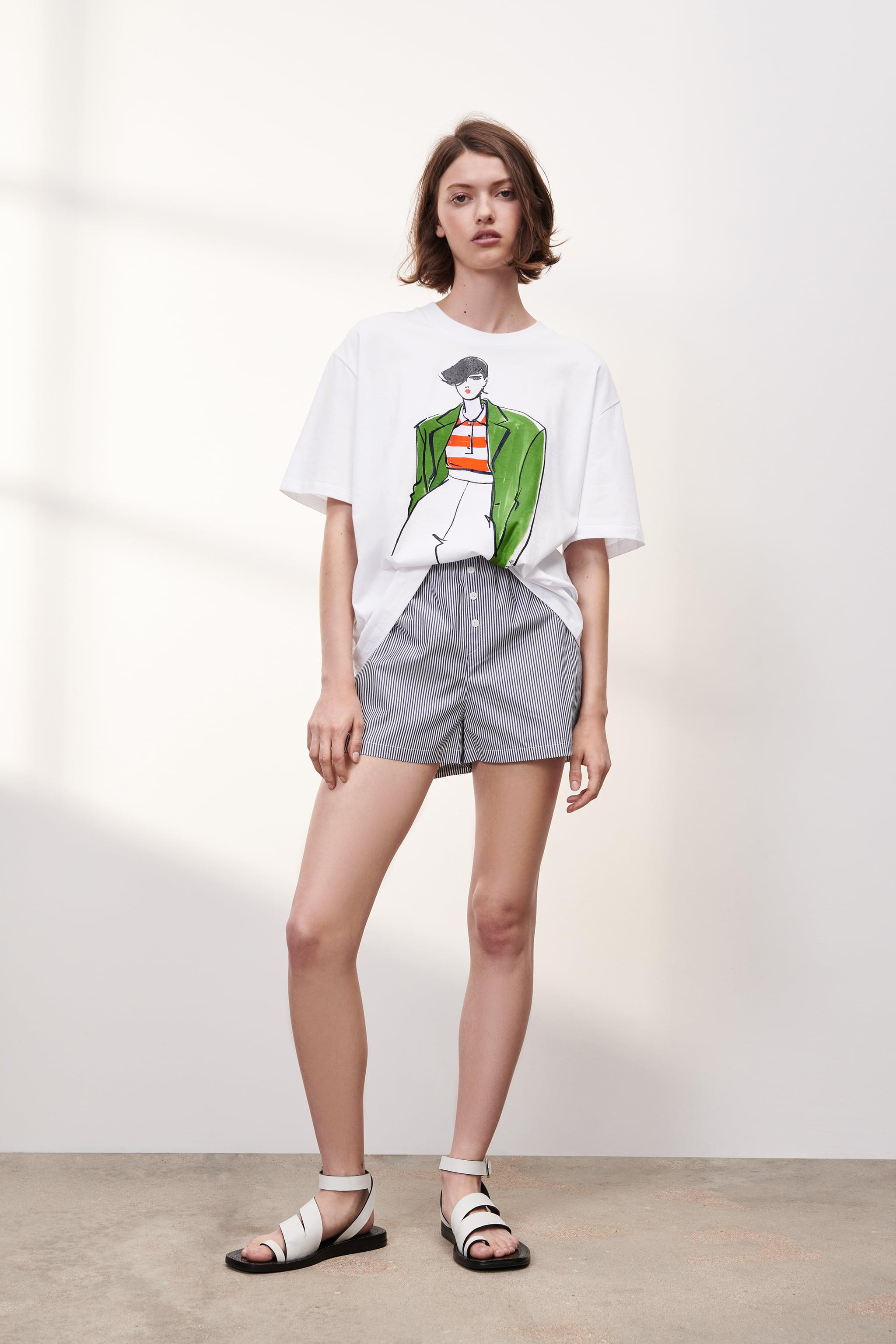 T-SHIRT WITH WOMAN PRINT