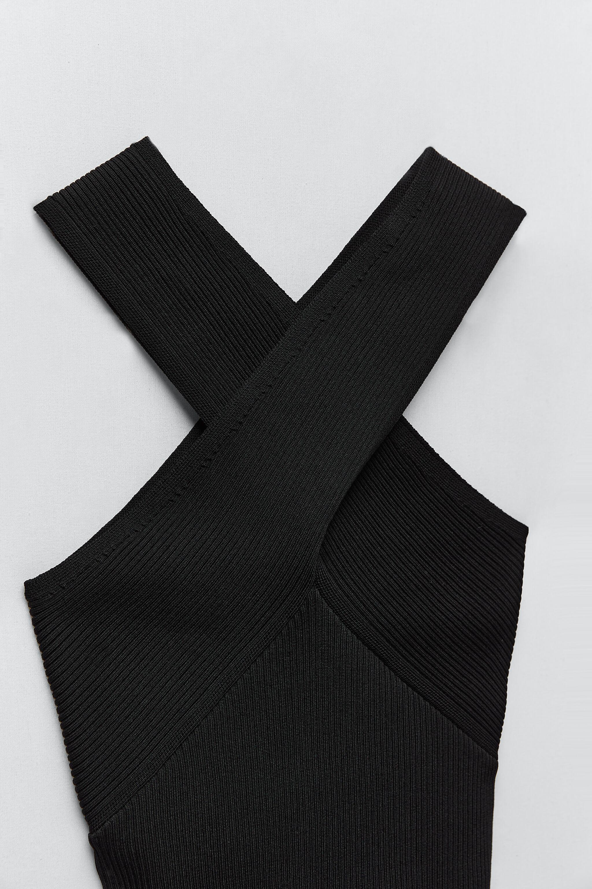 KNIT TOP WITH CROSSED STRAPS 9