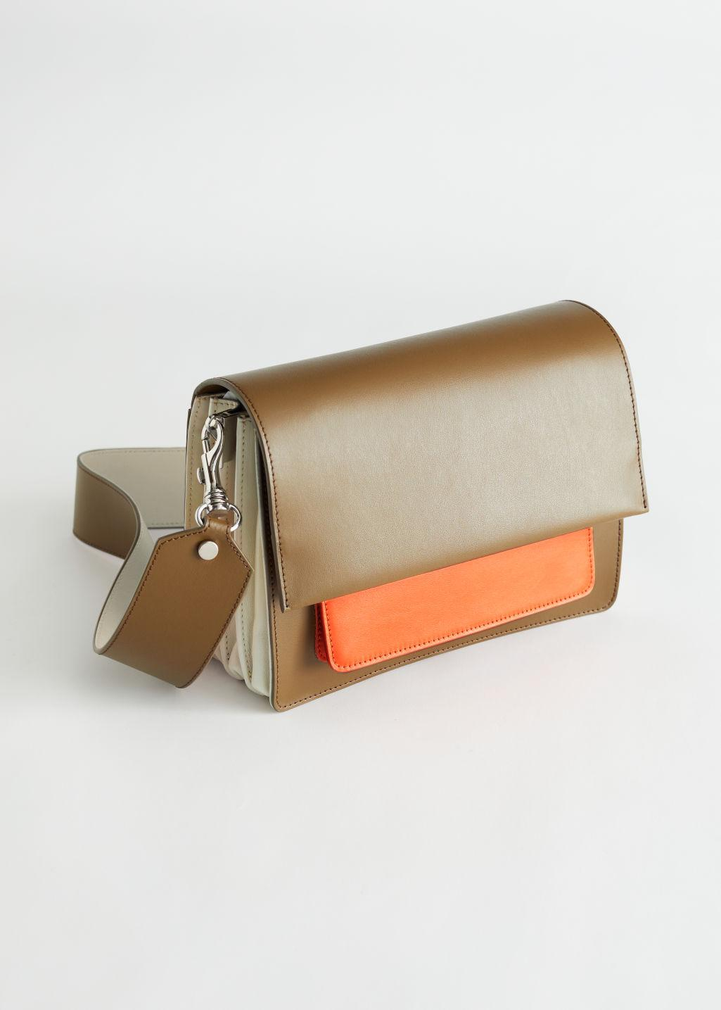 Colour Blocked Leather Bag