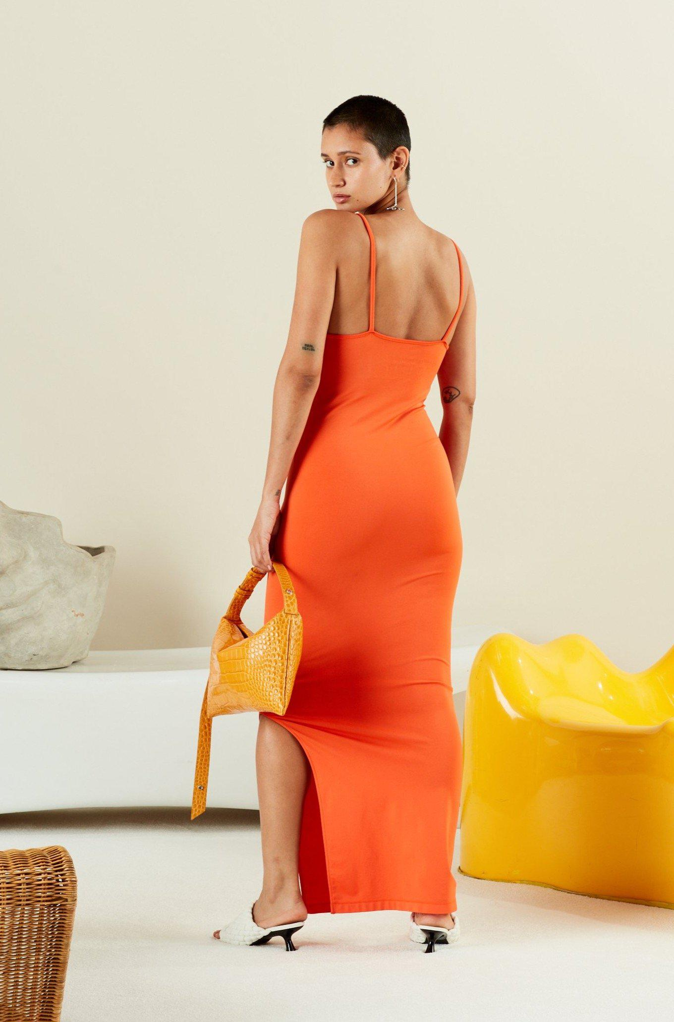 STRETCH Anders Dress in Coral 2