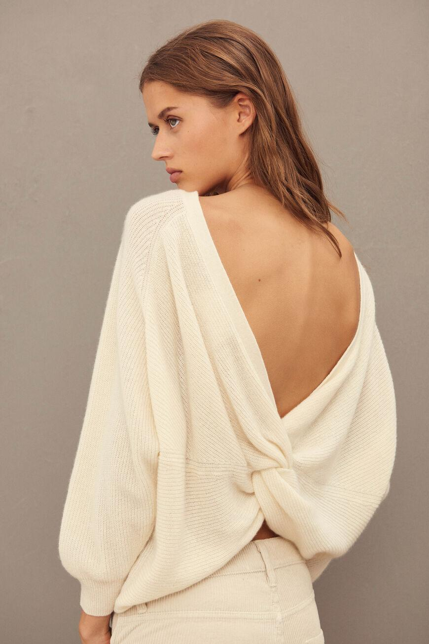 cramy.BACKLESS CASHMERE SWEATER