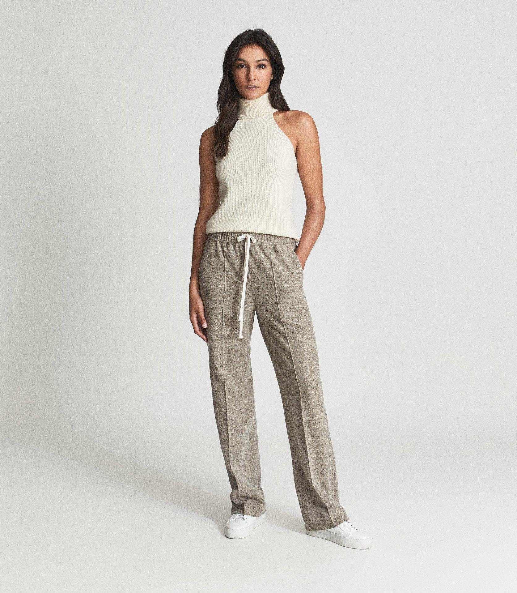 JOEY - TEXTURED WIDE LEG TROUSERS 4