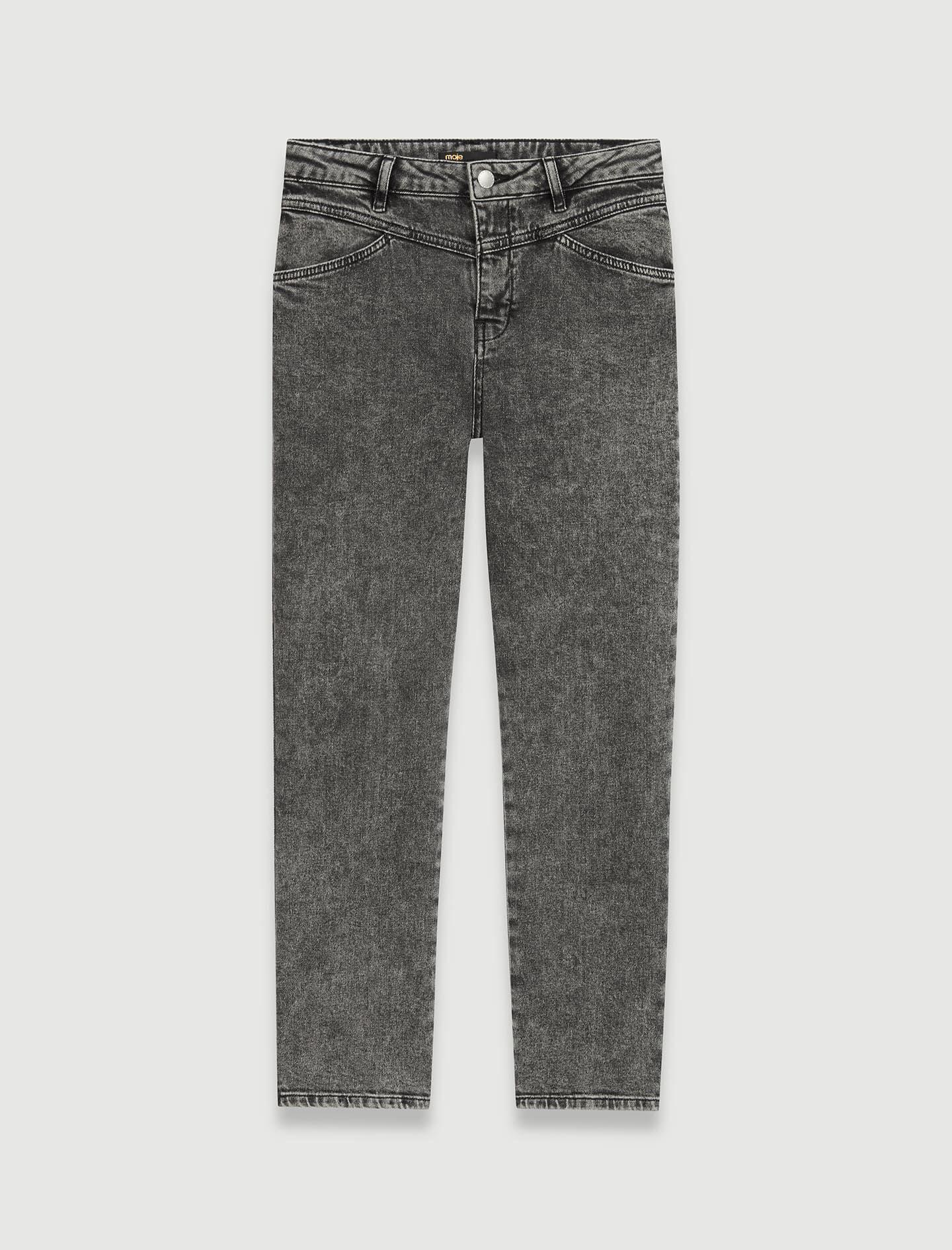 HIGH-RISE FADED JEANS 4