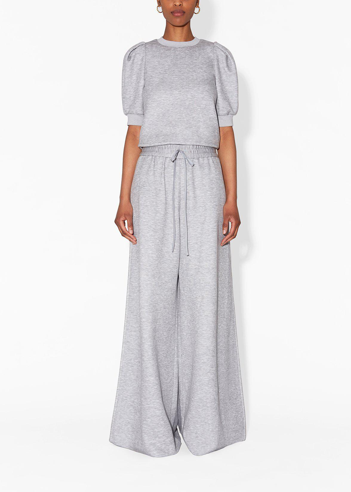 WIDE-LEG LOUNGE PANT IN LUXE JERSEY