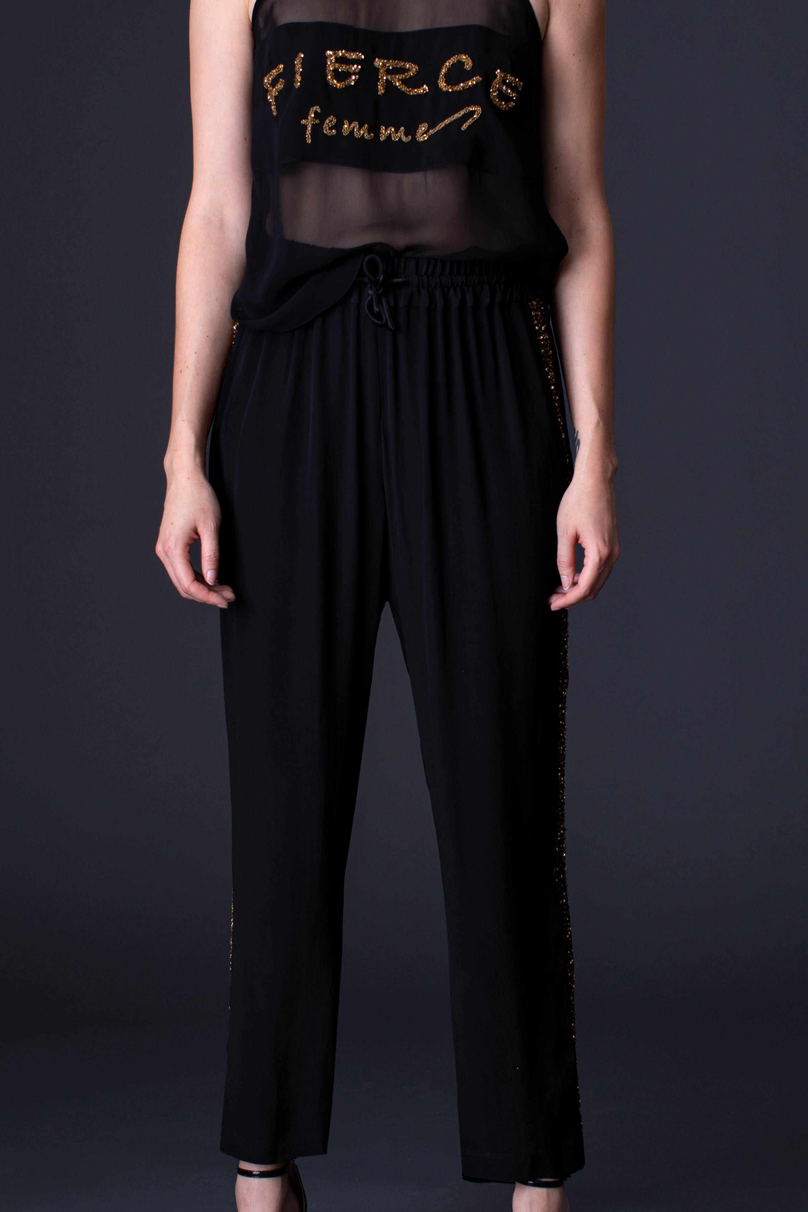 SEQUIN TRACK PANT 2