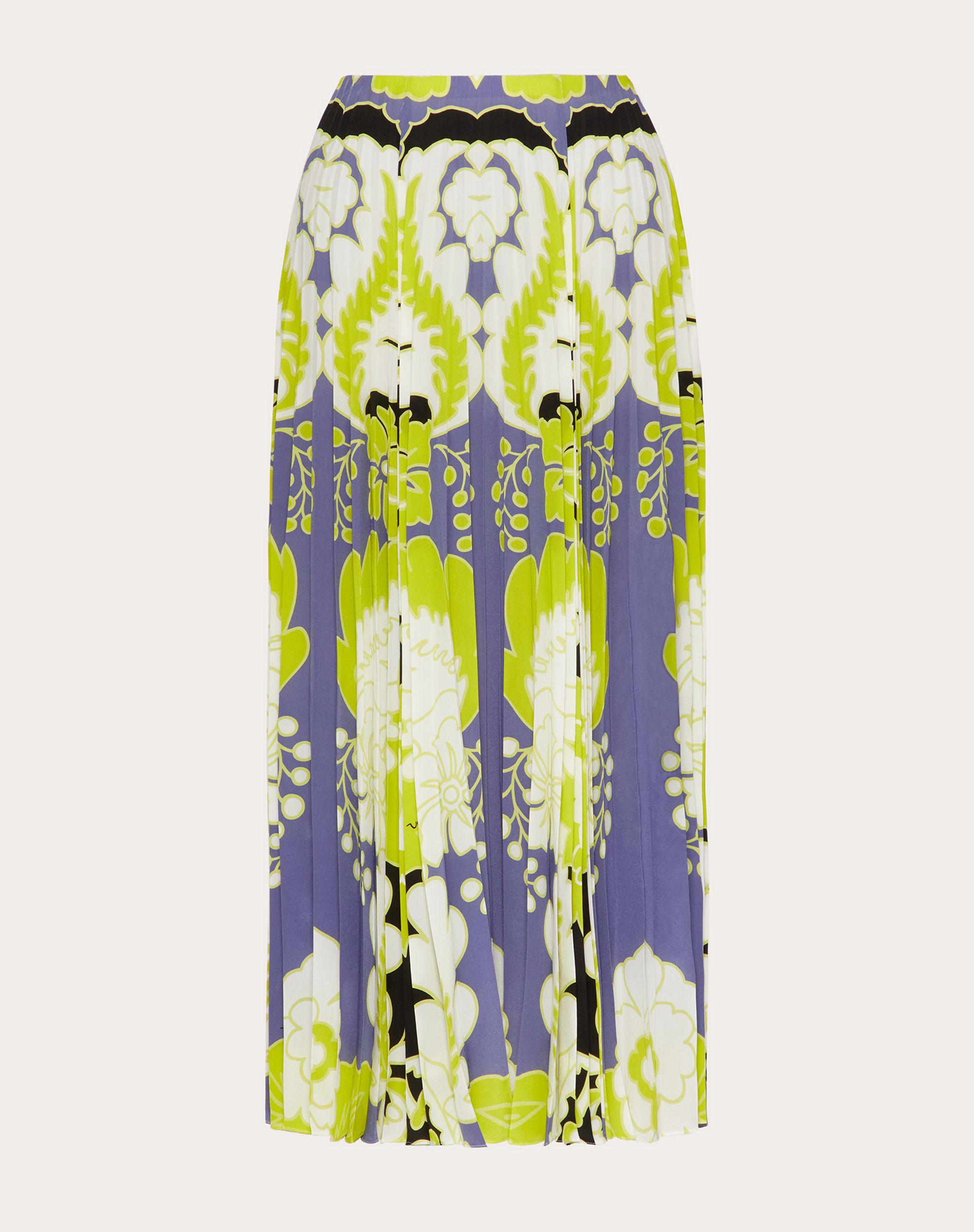 CREPE DE CHINE PLEATED SKIRT WITH PRINT 3