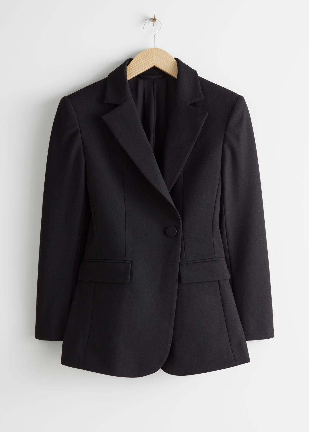 Asymmetric Structured Single Breasted Blazer