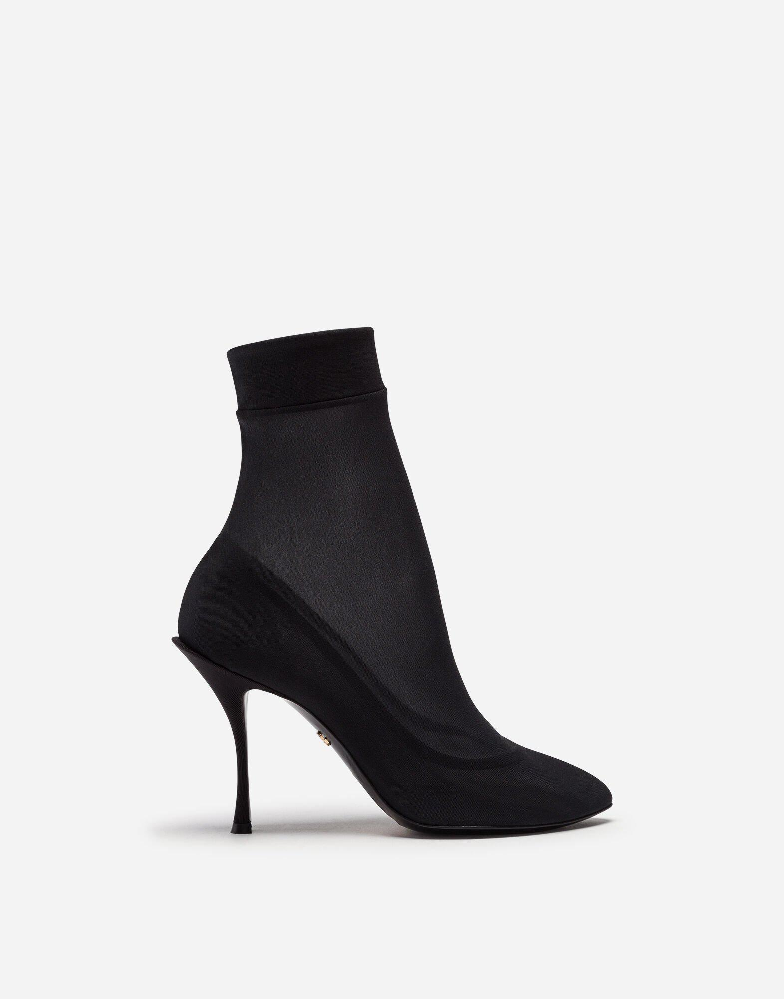 Stretch georgette booties
