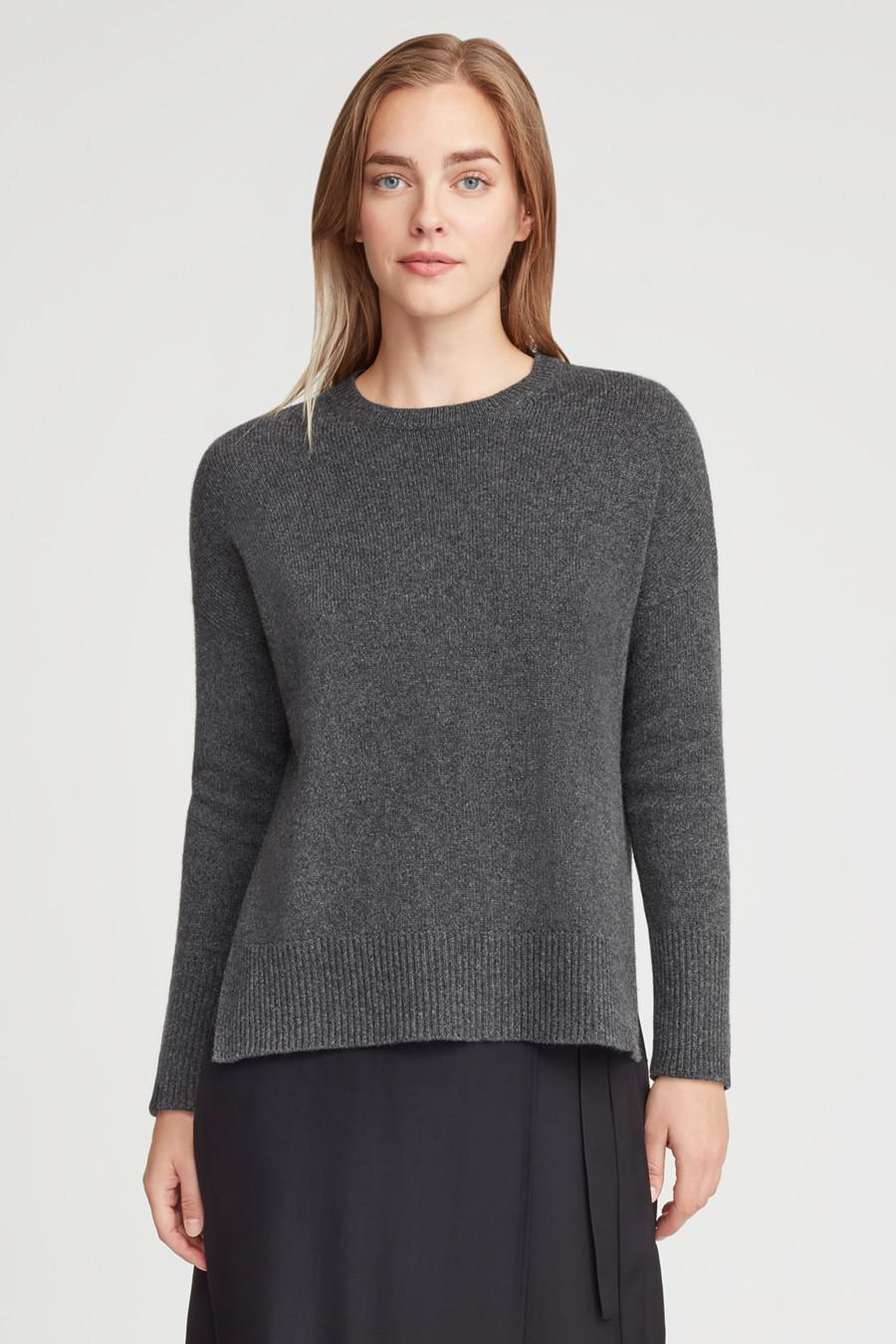Women's Recycled Crewneck Sweater in Charcoal | Size: 1