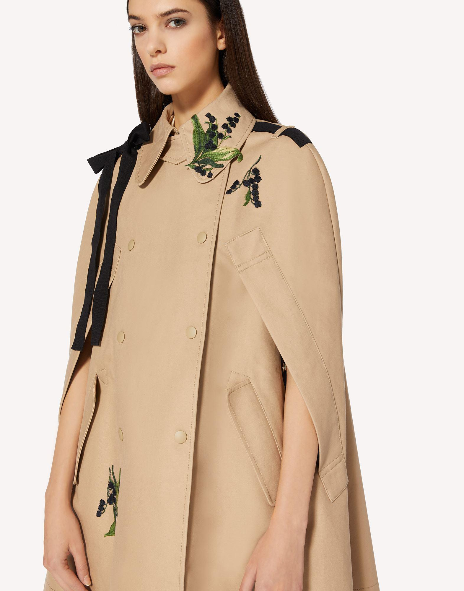 MAY LILY EMBROIDERED TRENCH CAPE WITH BOW DETAIL 3