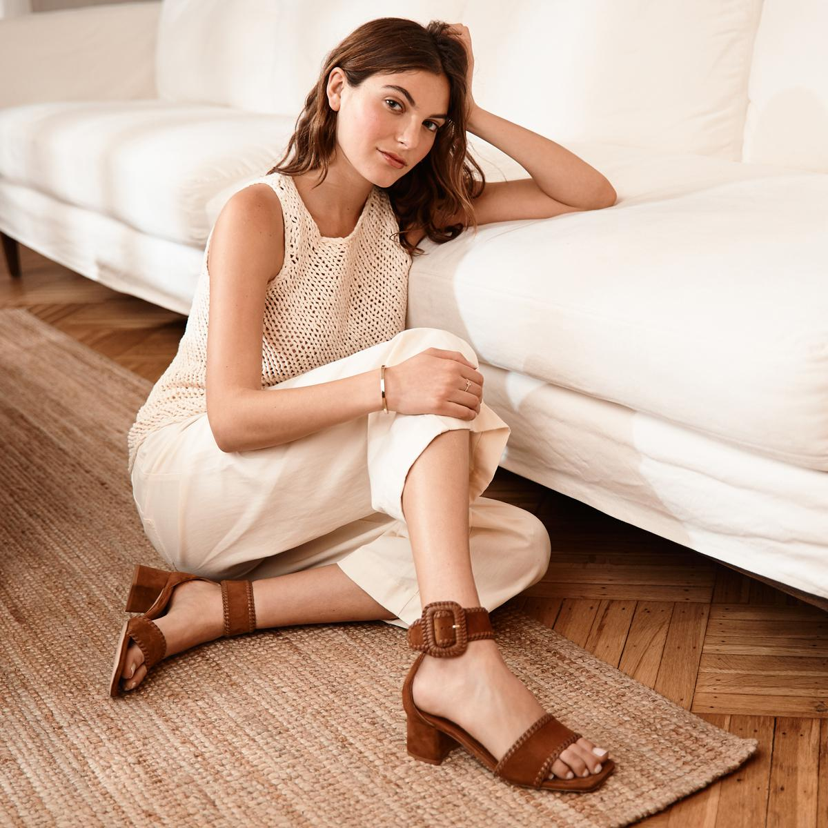 Isabelle | Suede Sandal With Block Heel 3