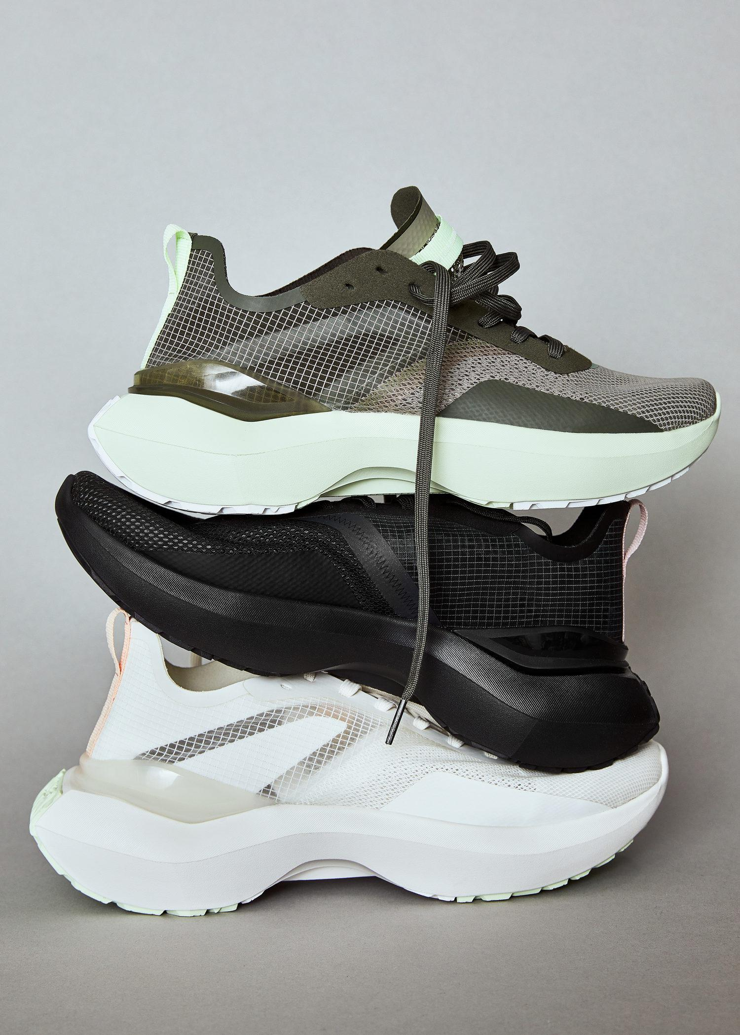 Shoes with transparent panels 7