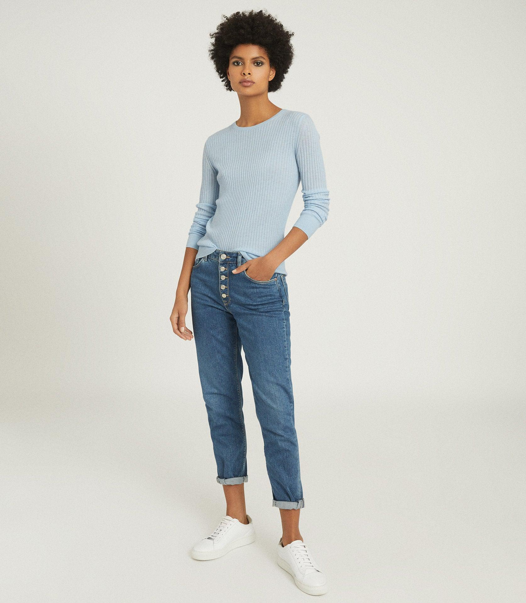 MICHELLE - CREW NECK KNITTED TOP