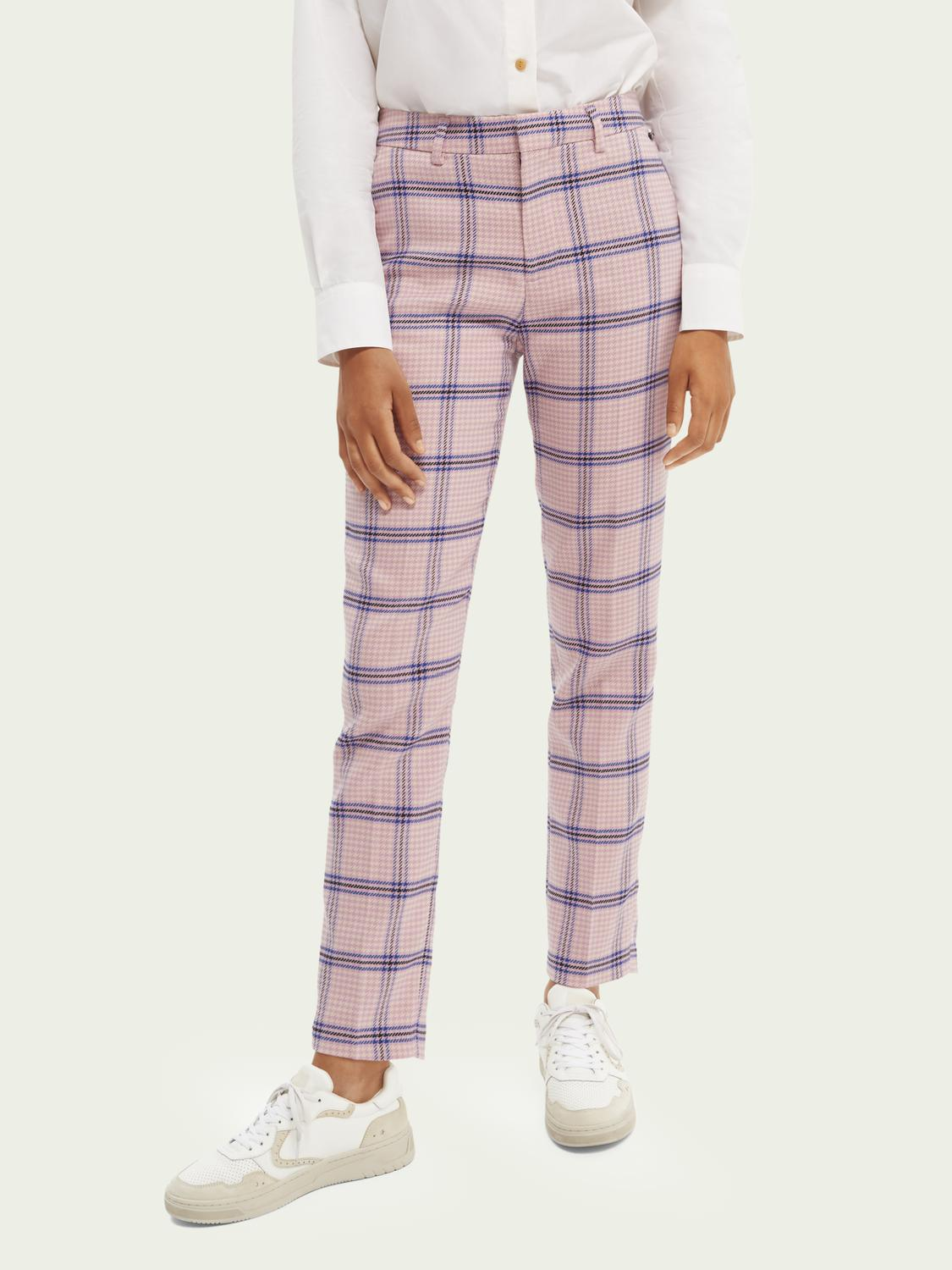 Lowry tailored slim-fit checked trousers
