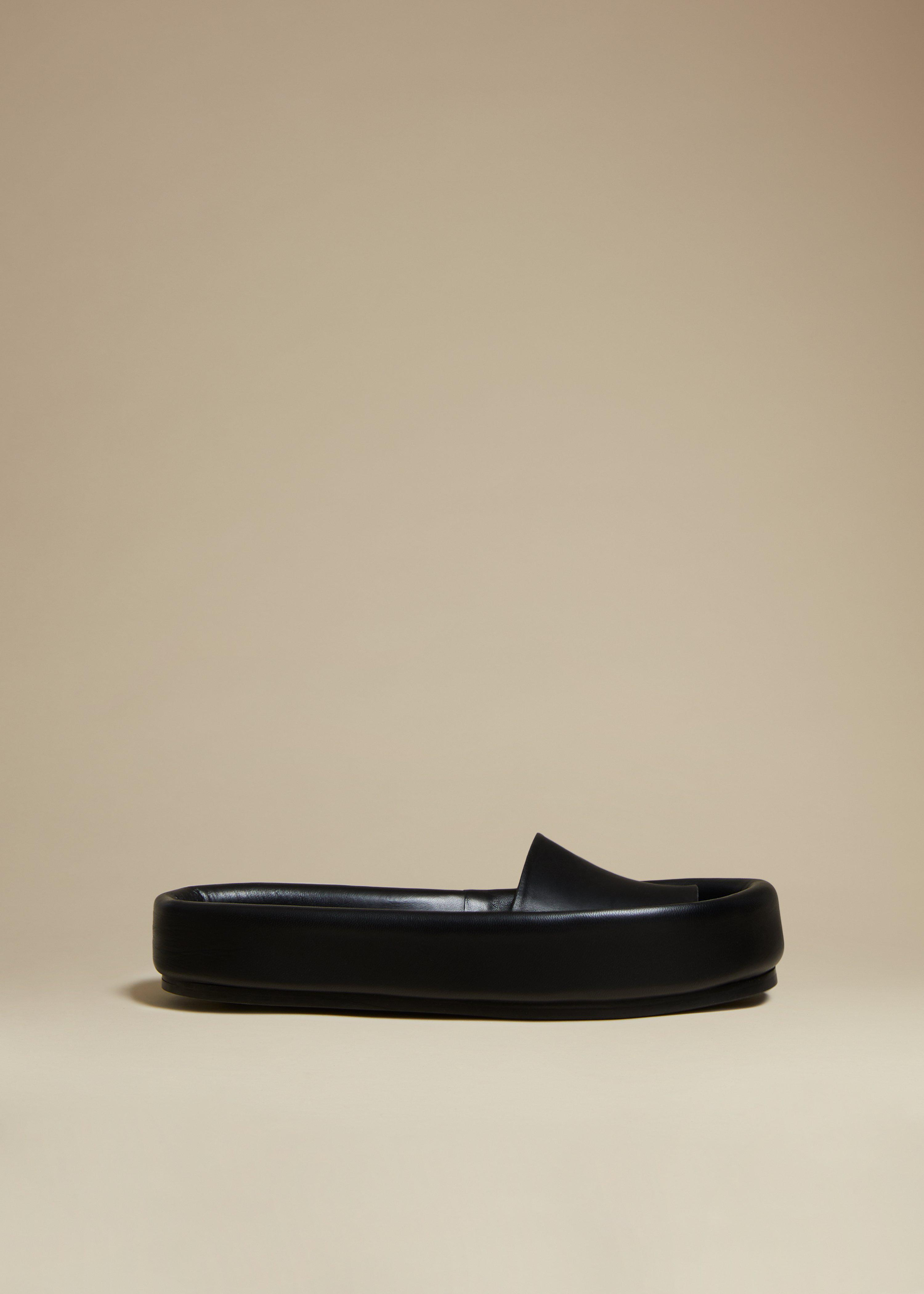 The Venice Sandal in Black Leather