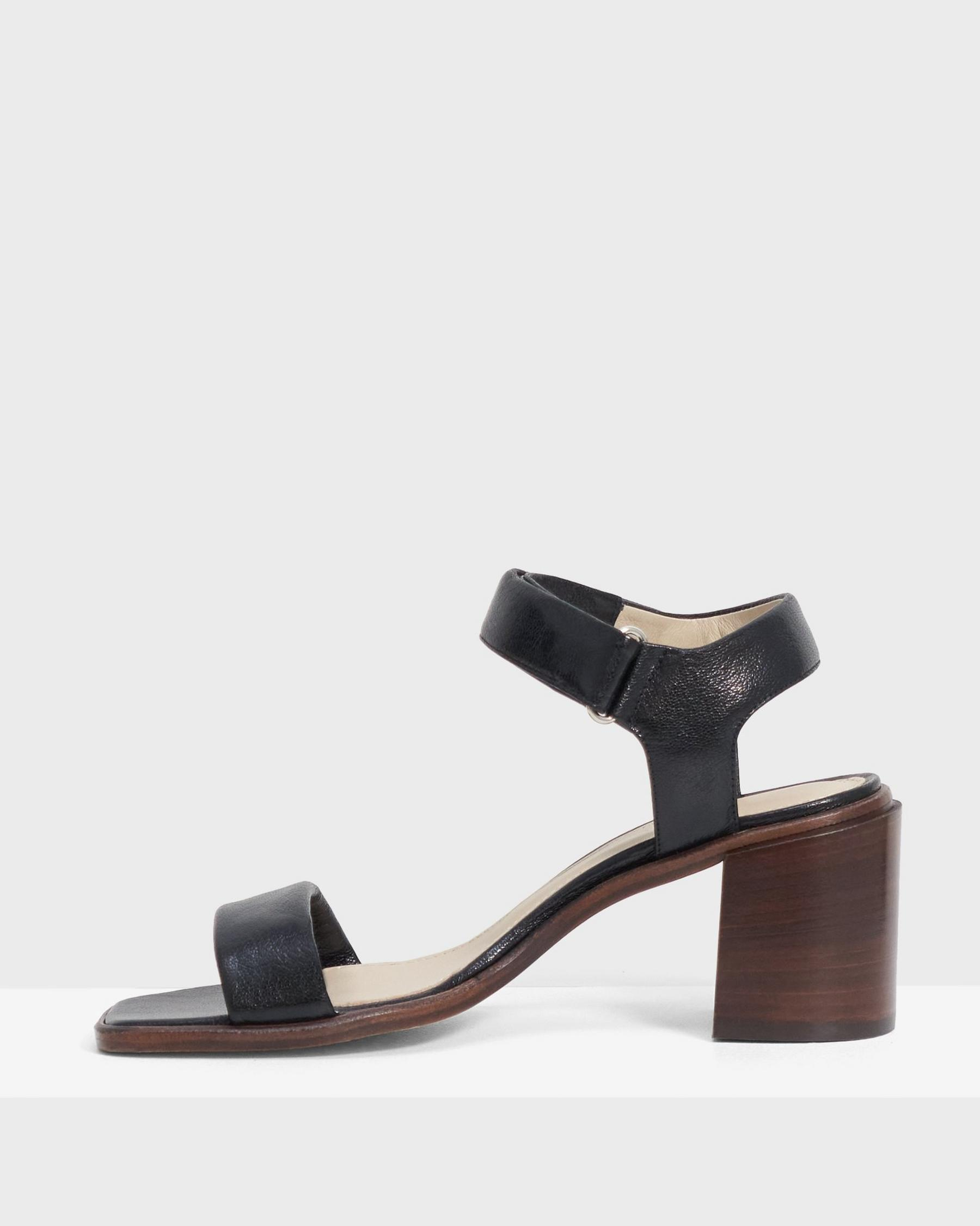 Mid-Ankle Strap Sandal in Leather 4