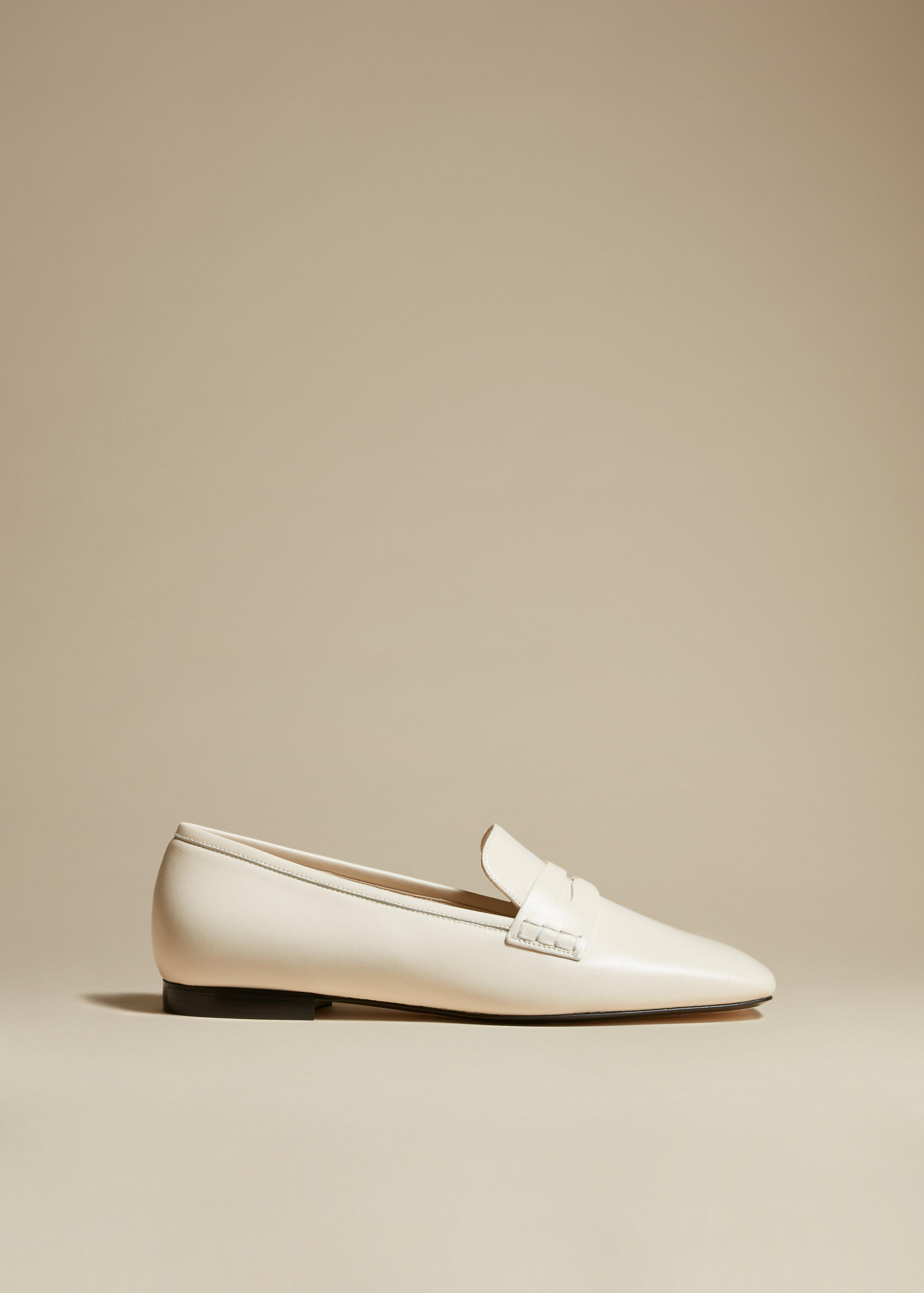 The Carlisle Loafer in Cream Leather