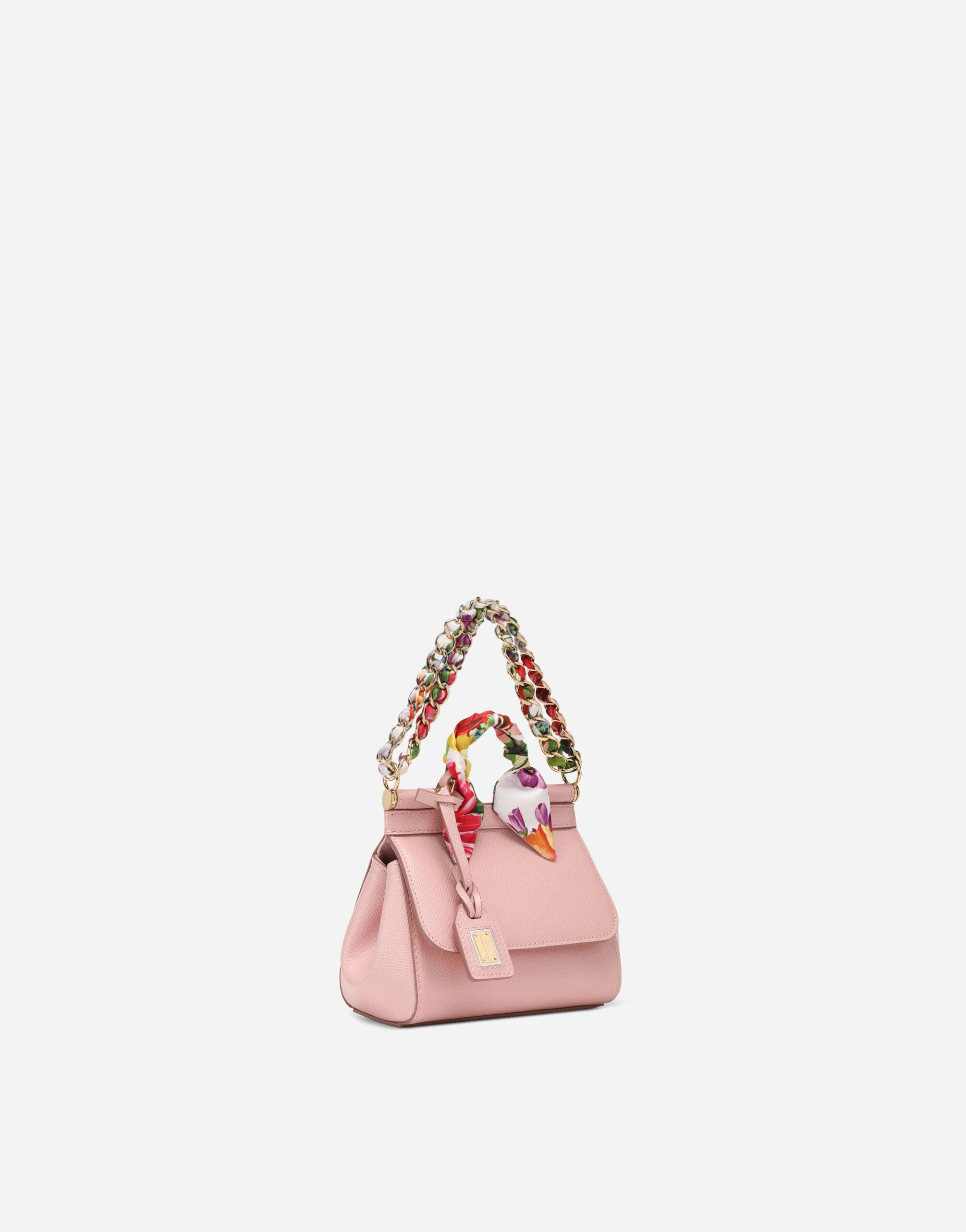 Sicily mini bag in Dauphine calfskin with scarf 1