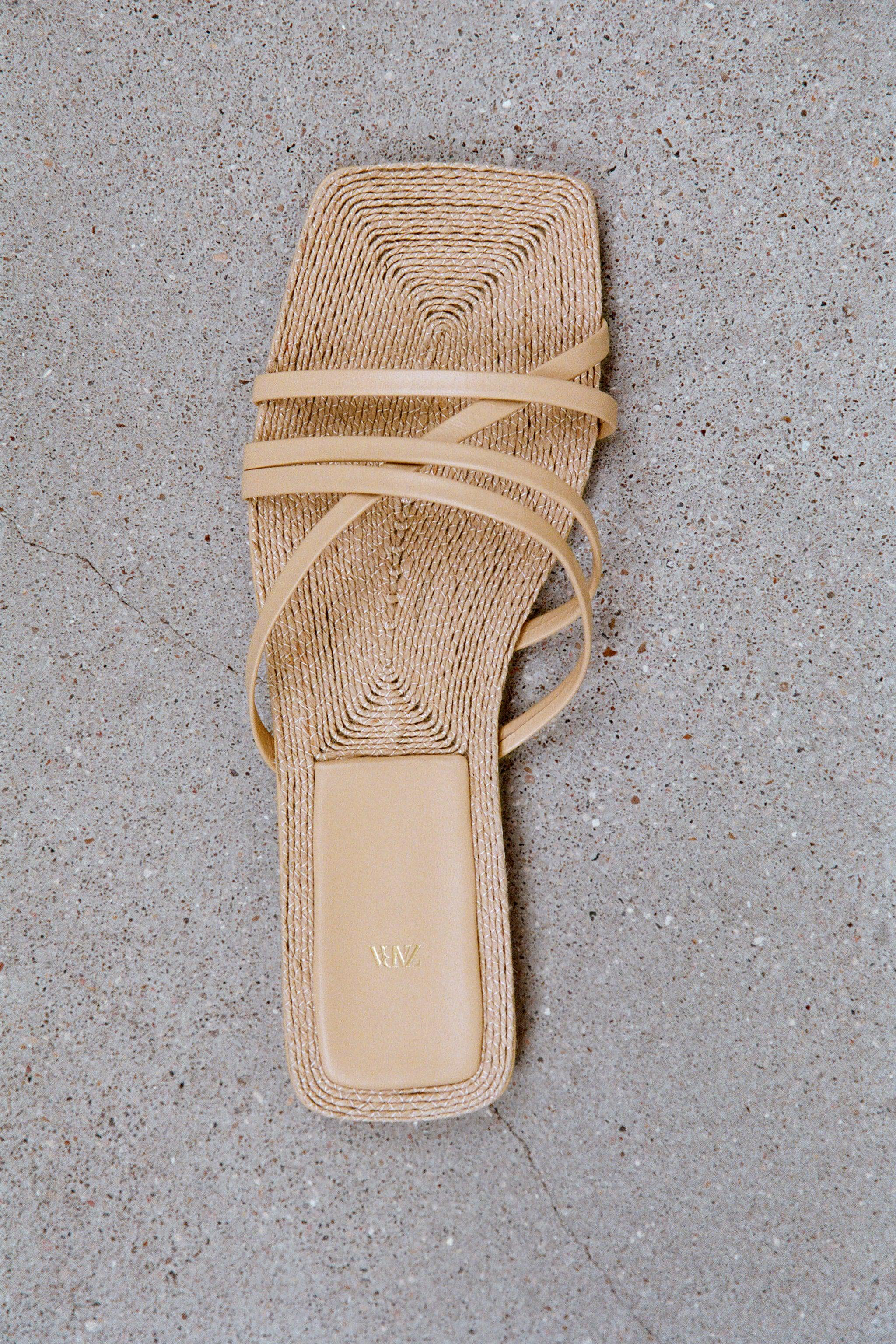 LOW HEEL LEATHER SANDALS WITH JUTE INSOLE 0