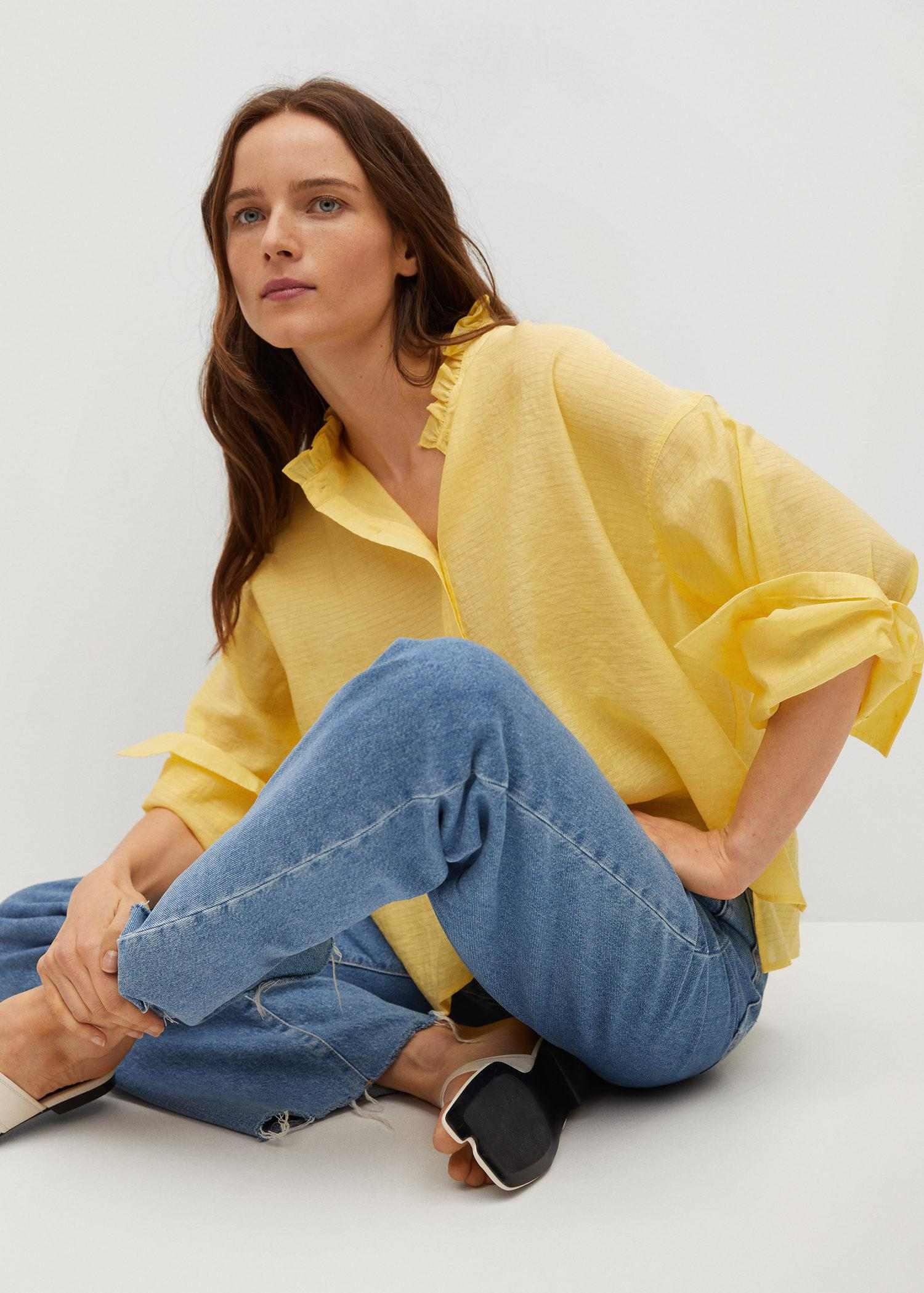 Textured flowy blouse 4