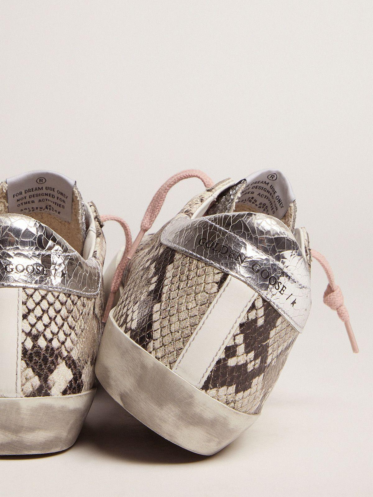 Super-Star LTD sneakers with snake print and glitter 3
