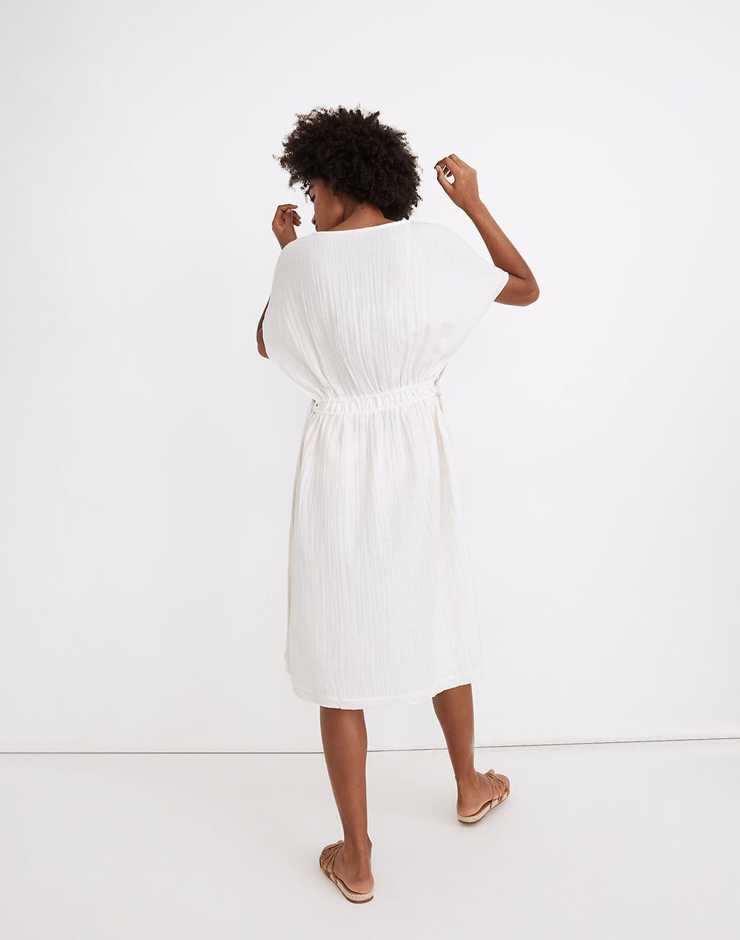 Double Gauze Side-Tie Cover-Up Dress 2