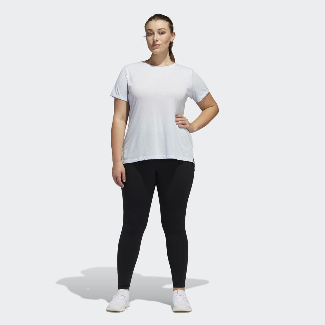 Believe This Solid 7/8 Tights (Plus Size) Black 4