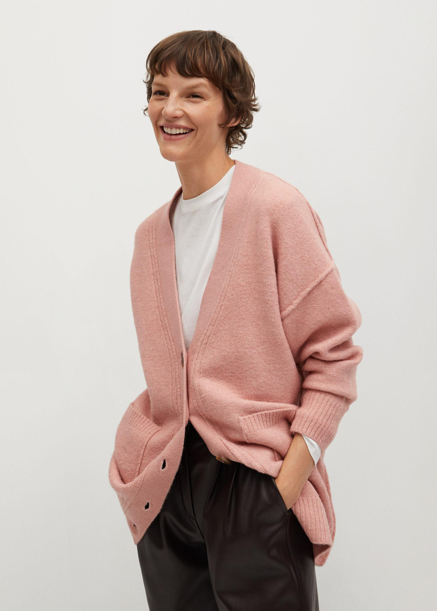 Oversized cardigan with buttons