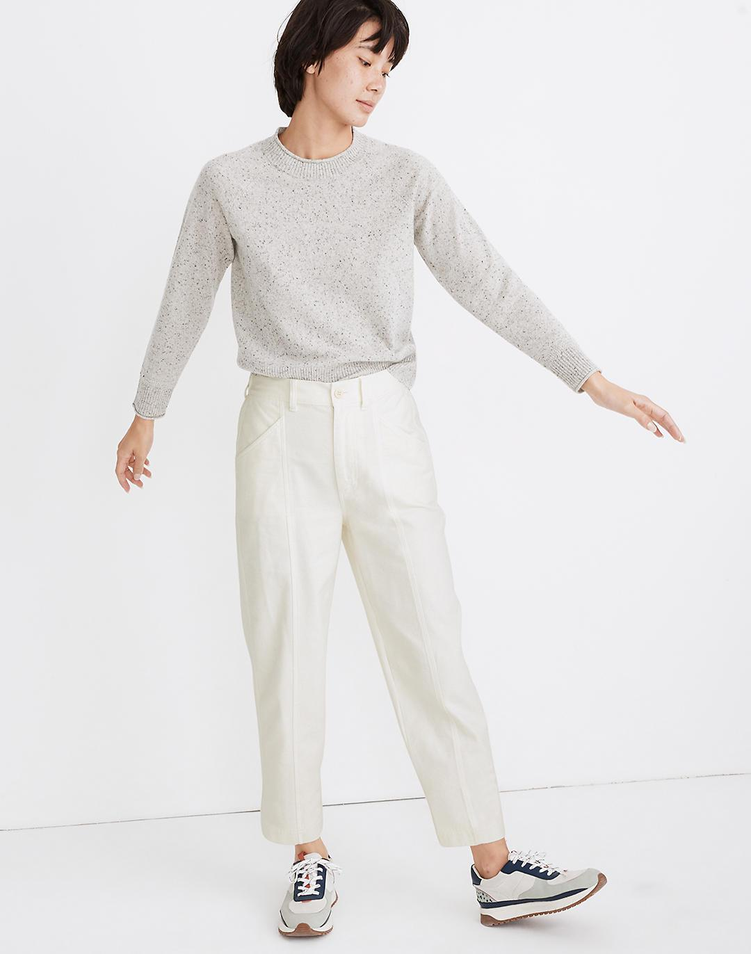 Moleskin High-Rise Seamed Tapered Pants 0
