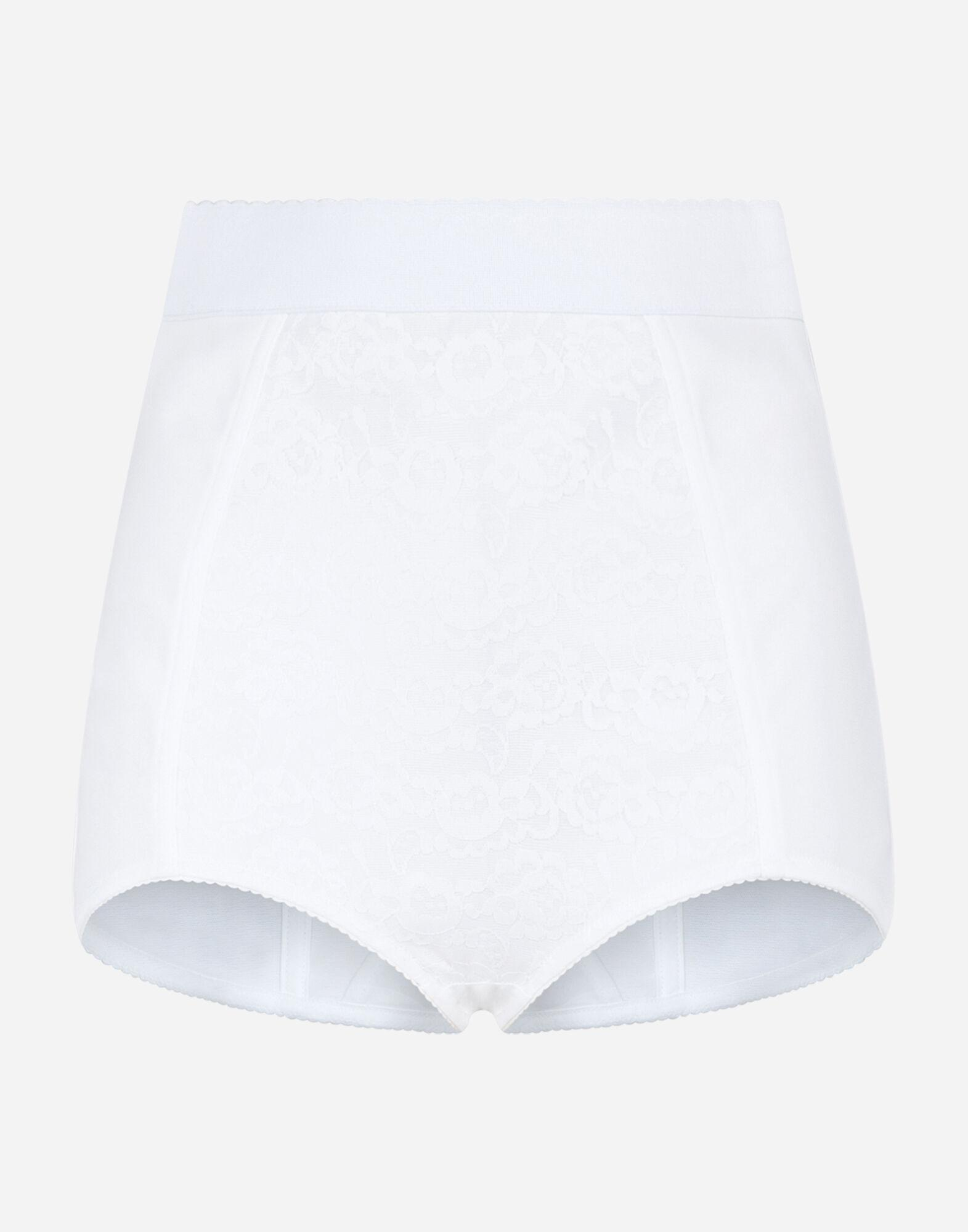High-waisted shaper panties in jacquard and satin 5
