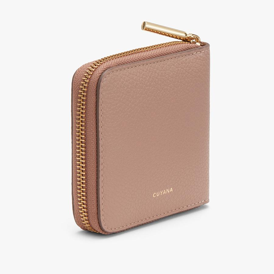 Women's Small Classic Zip Around Wallet in Soft Rose | Pebbled Leather by Cuyana 1