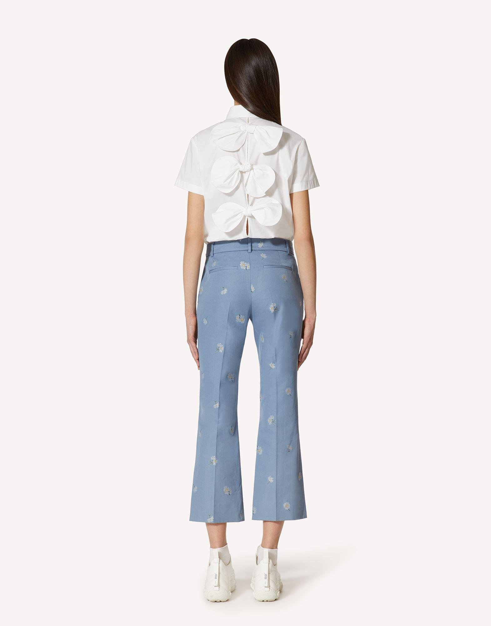 COTTON POPLIN SHIRT WITH BOW DETAILS 1