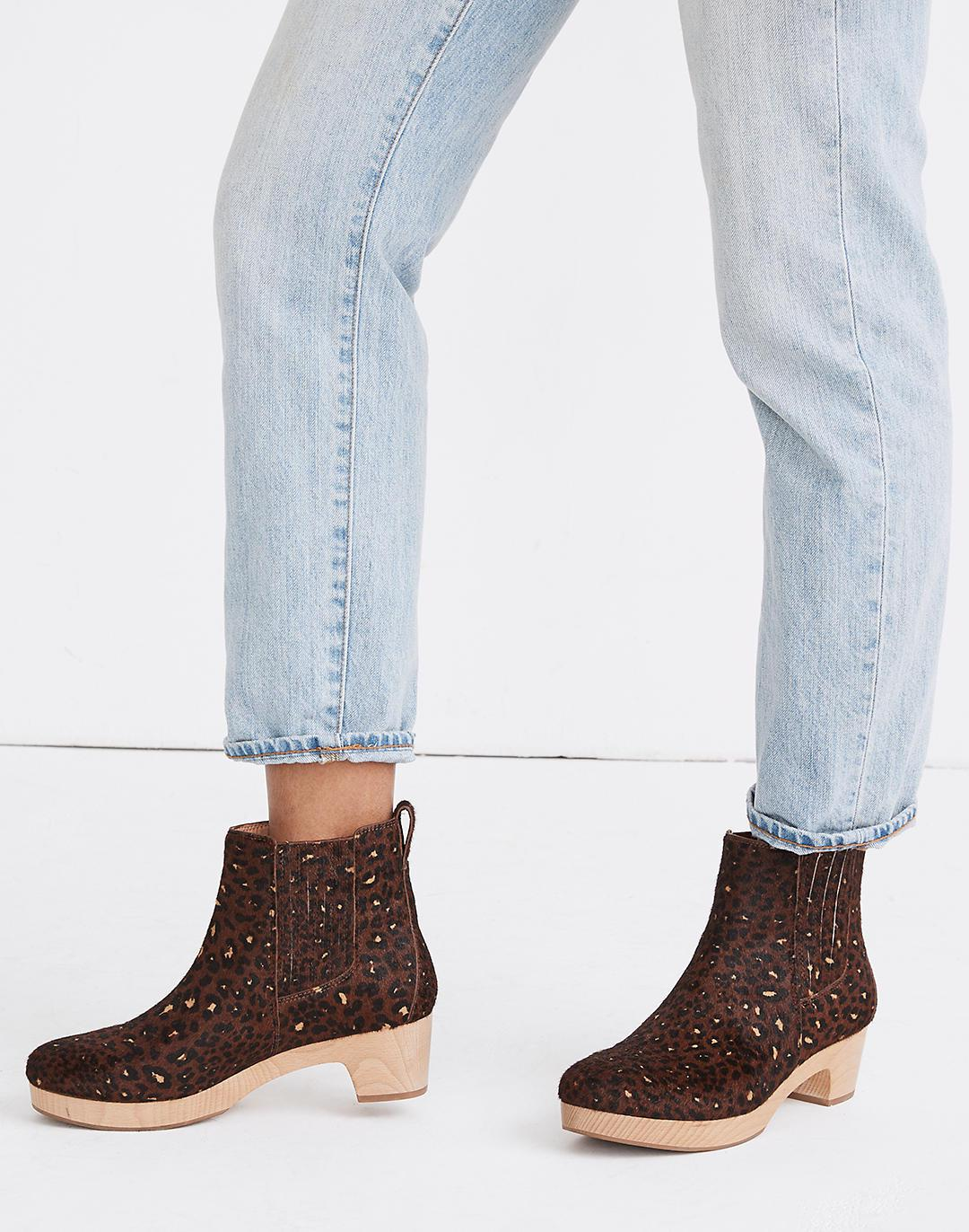 The Clog Boot in Painted Leopard Calf Hair 3