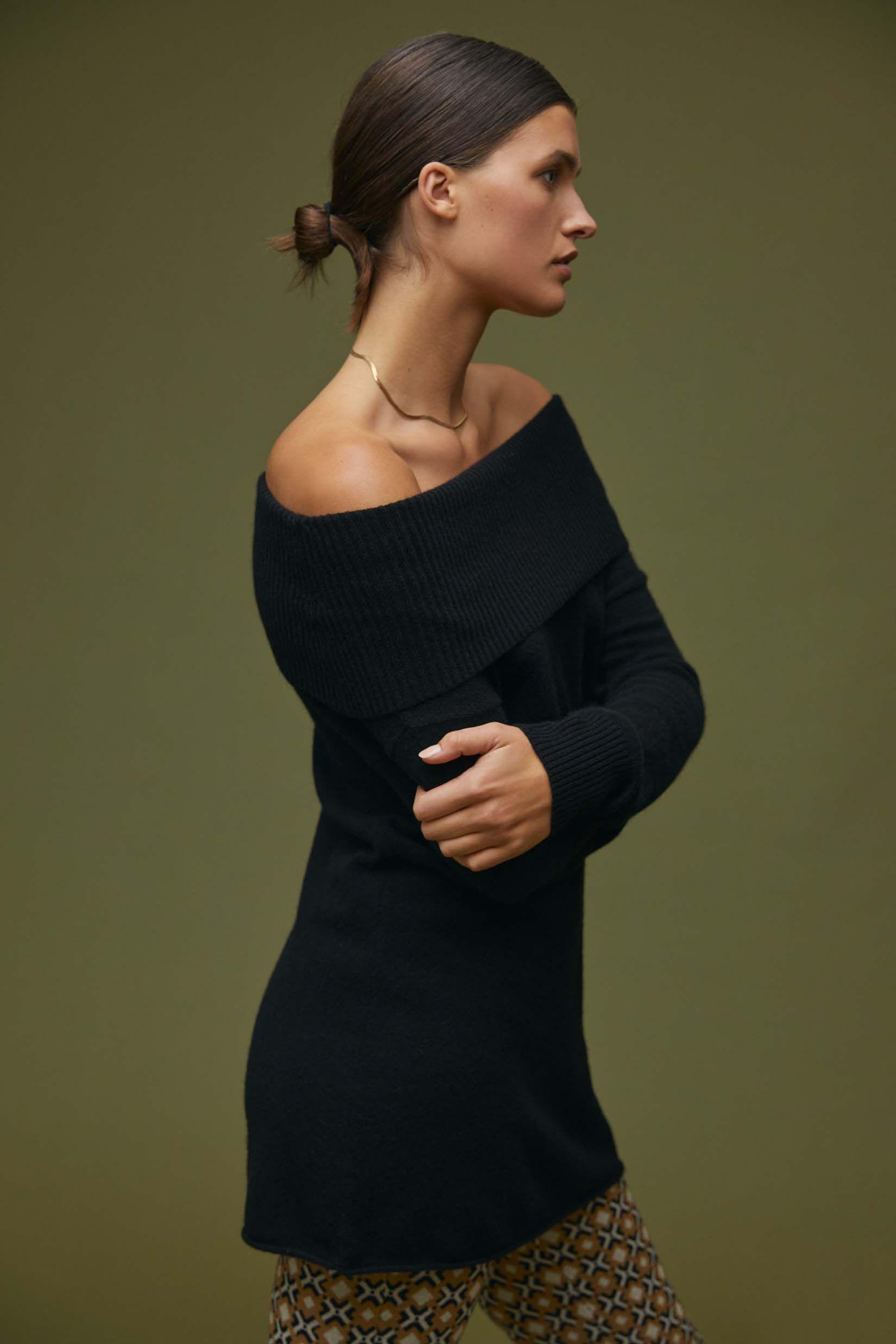 Maeve Off-The-Shoulder Cashmere Sweater
