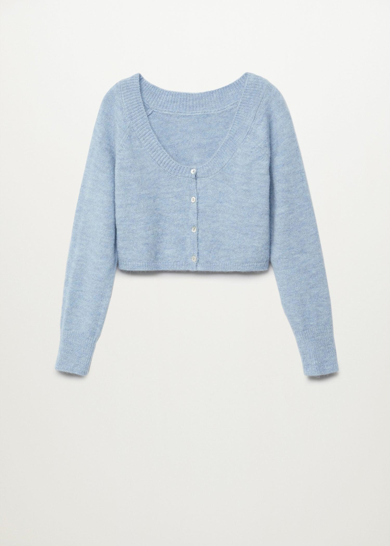 Knitted cropped cardigan 8