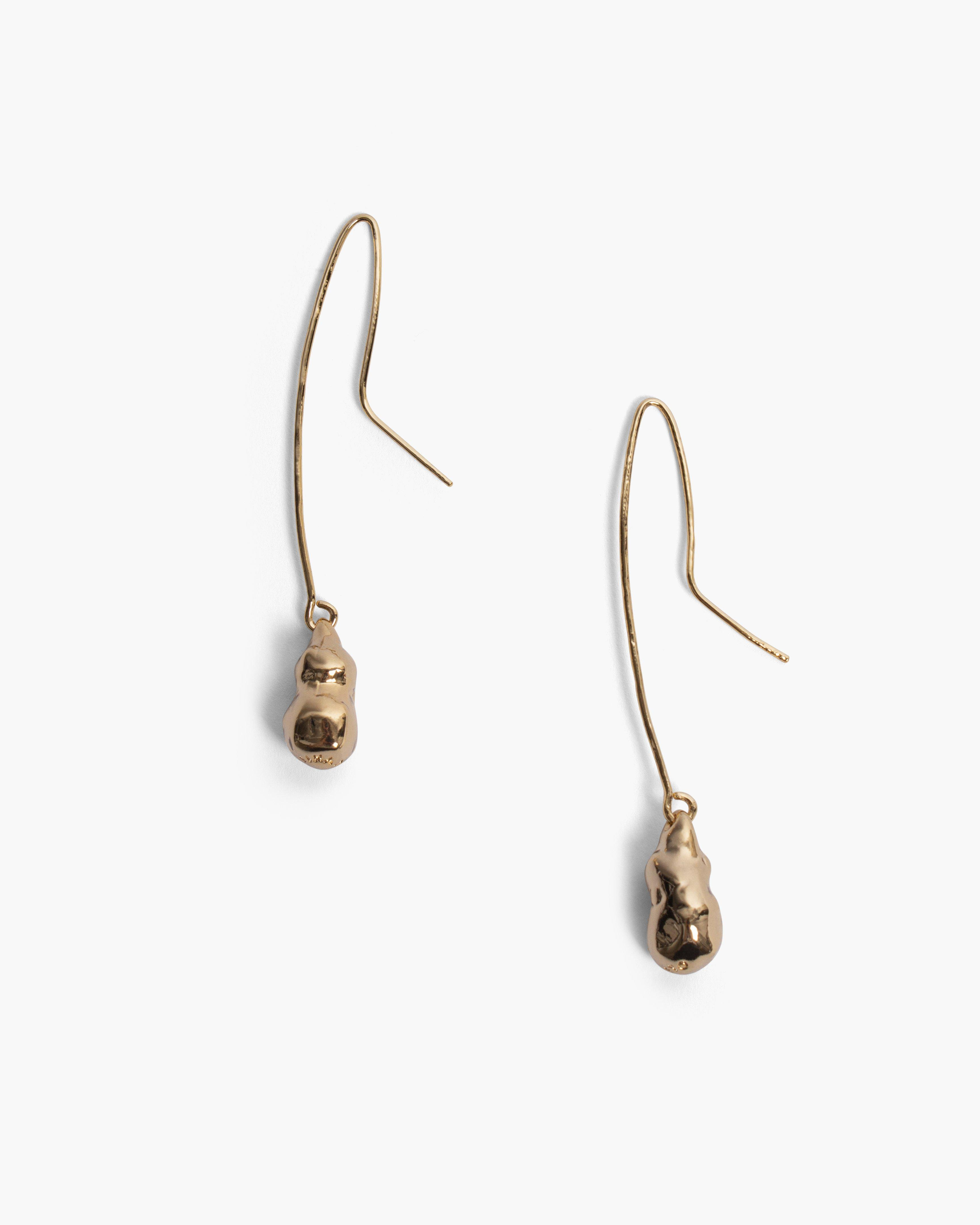 Baroque Earrings Gold Plated