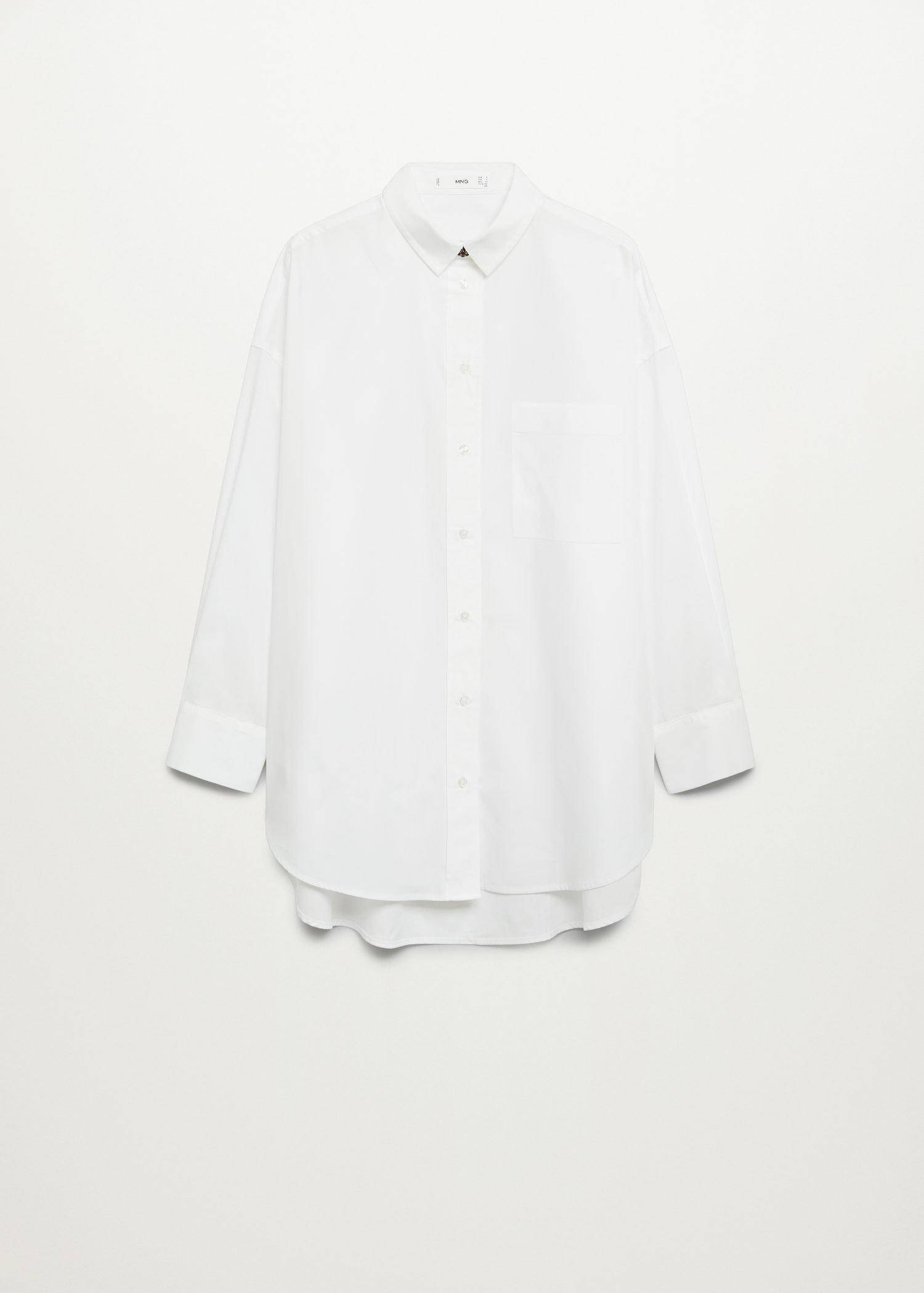 Cotton shirt with jewel buttons 7