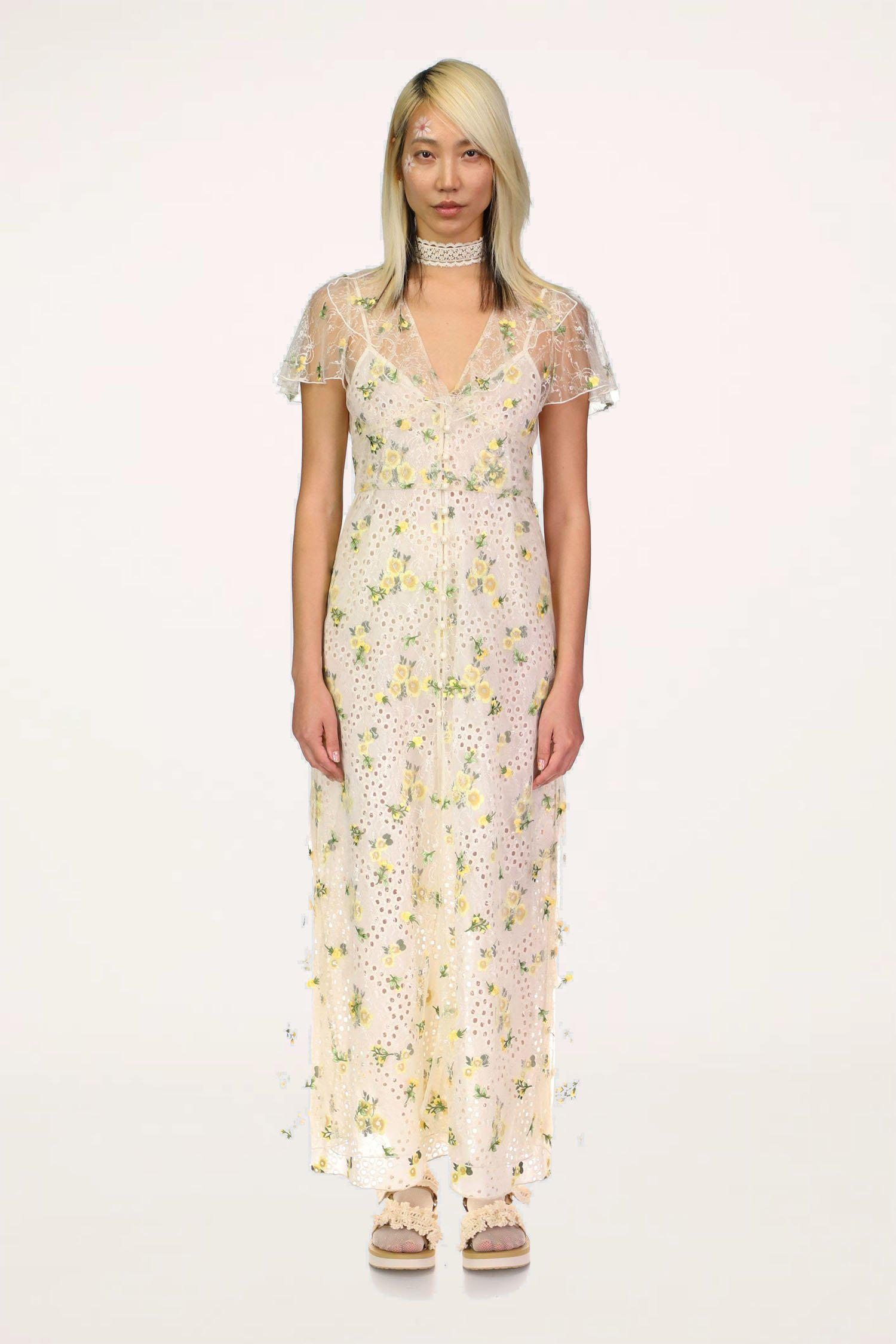 Scattered Blooms Lace Cover Up
