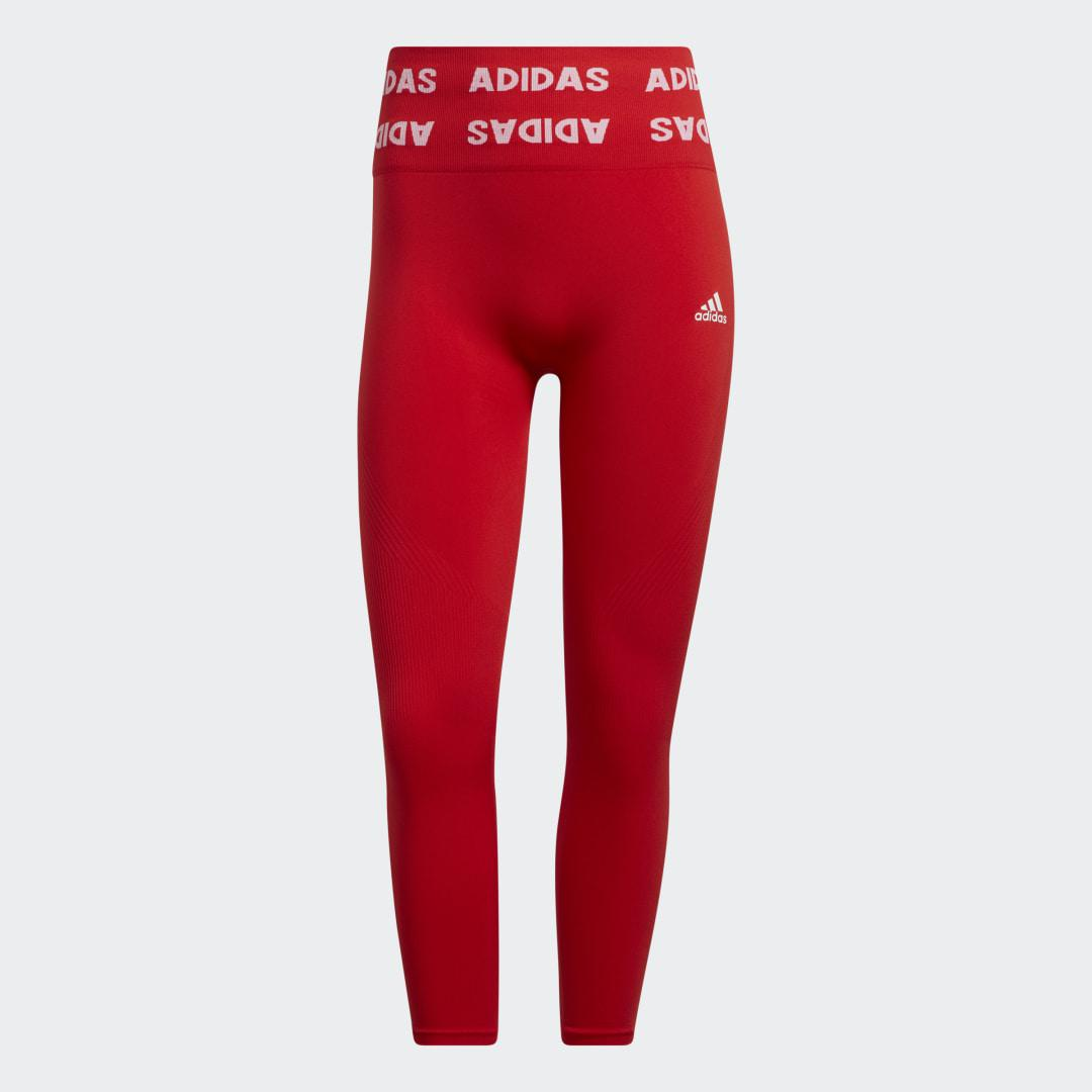 Training Aeroknit 7/8 High-Rise Tights Red 7