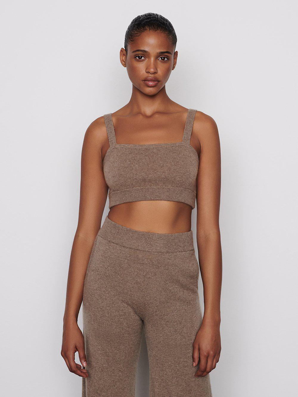 Cashmere Cropped Tank -- Spelt