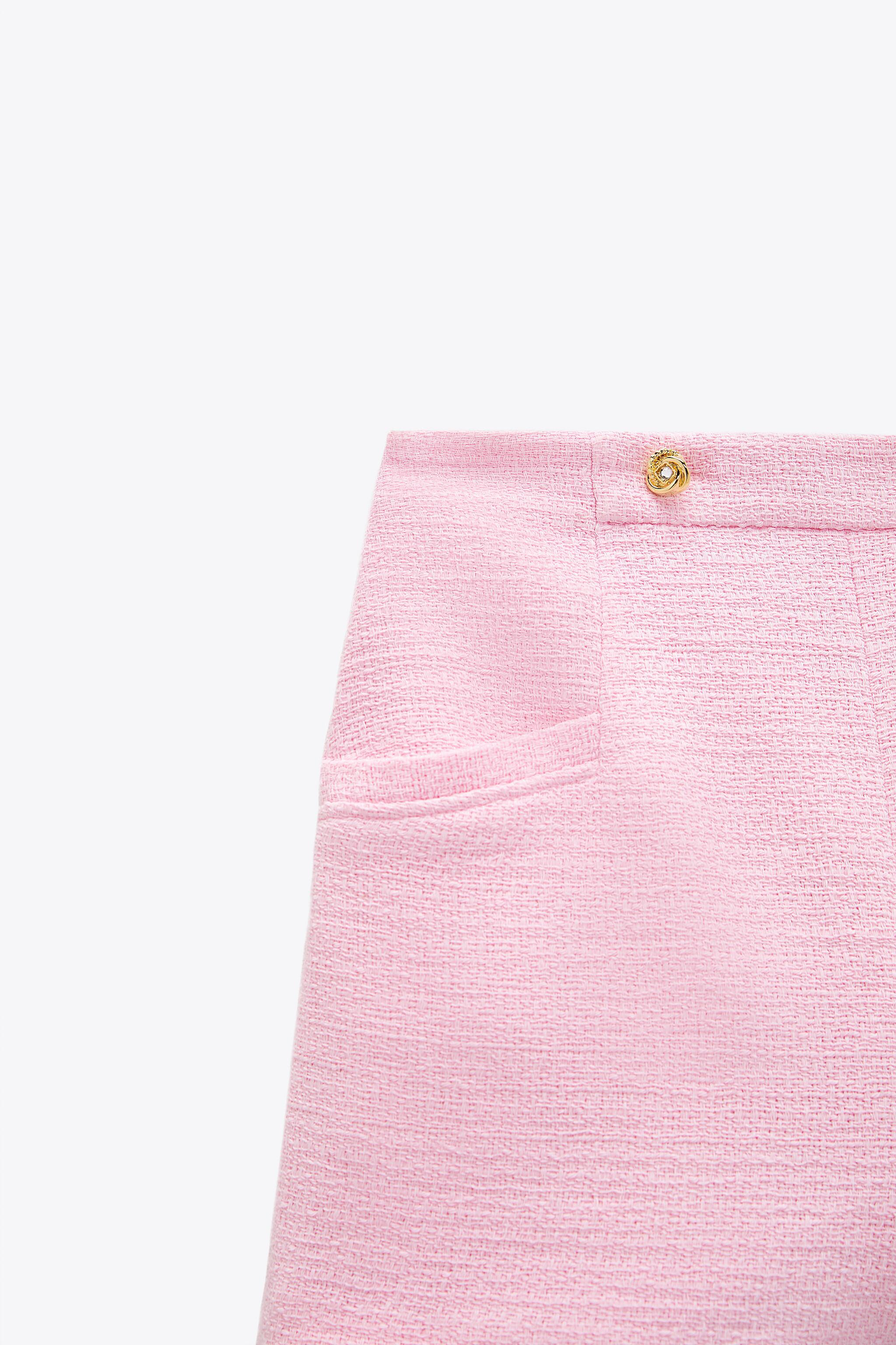 TEXTURED WEAVE SHORTS WITH BUTTONS 7