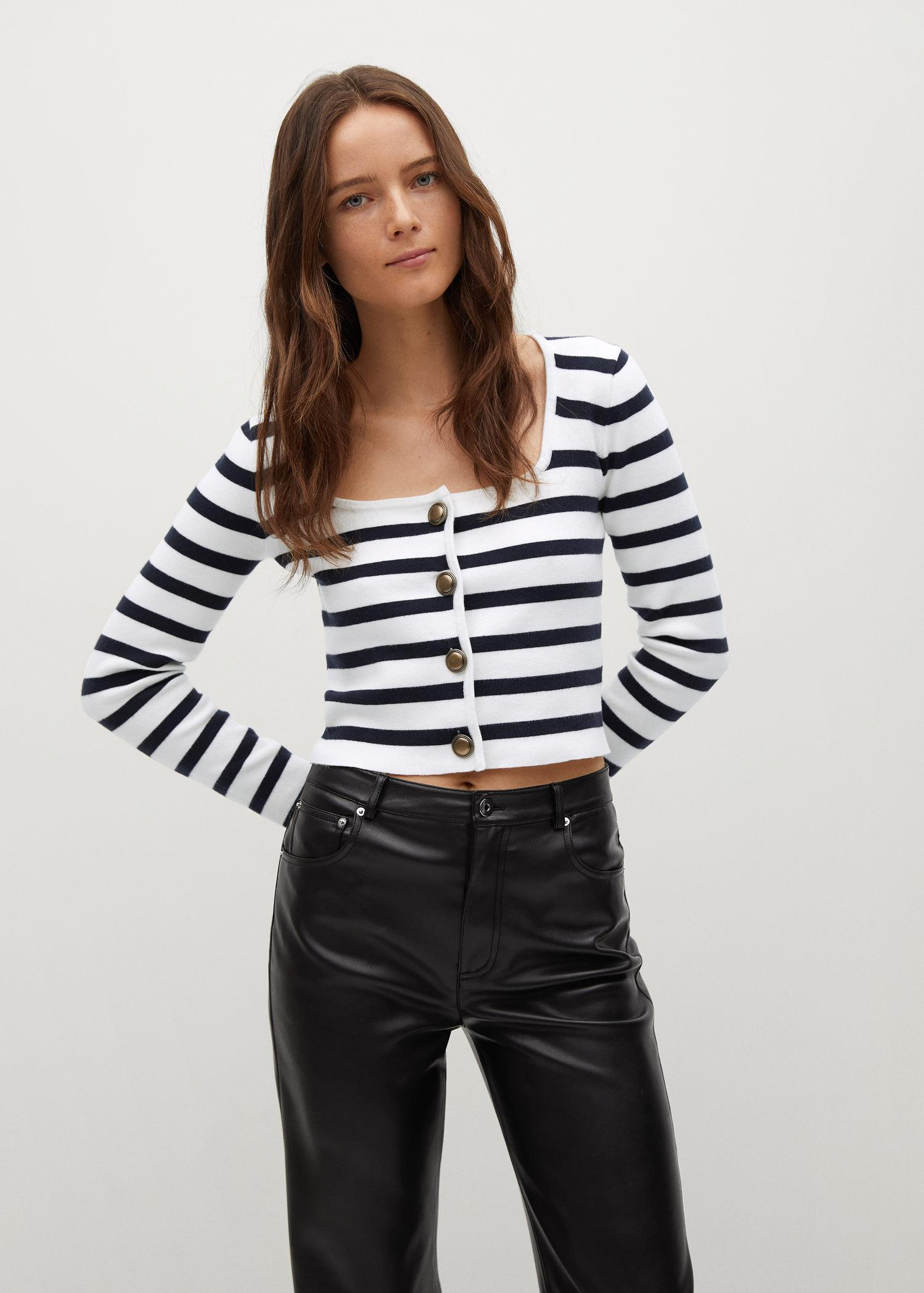 Striped cardigan with buttons