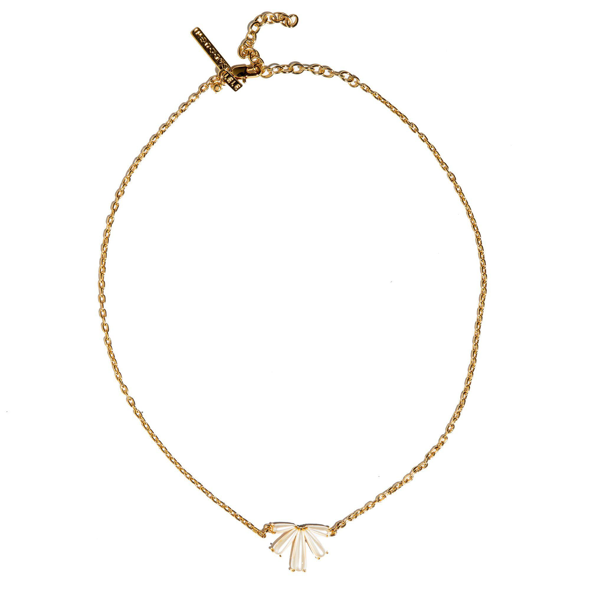 SCALLOPED PEARL PENDANT NECKLACE