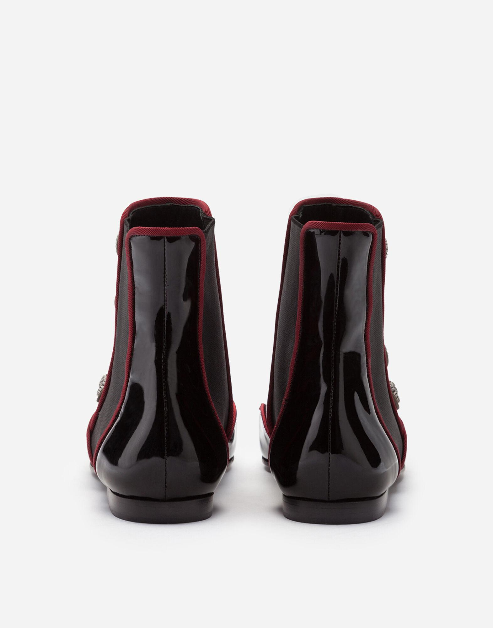 Patent leather chelsea boots with buttons 2