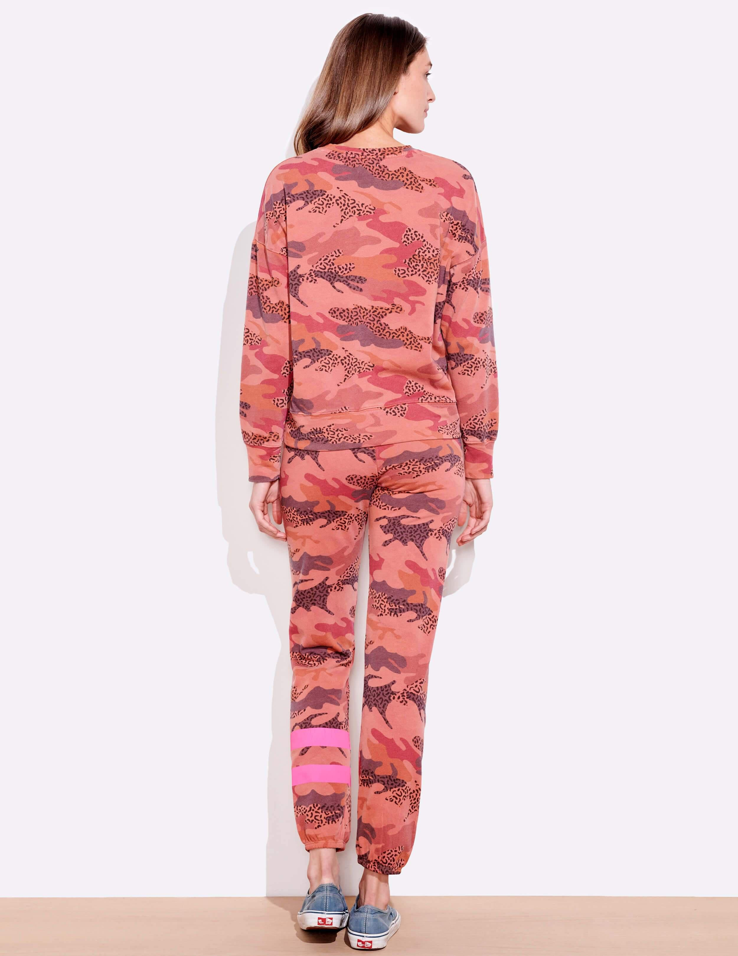 Abstract Camo Oversize Pullover 3