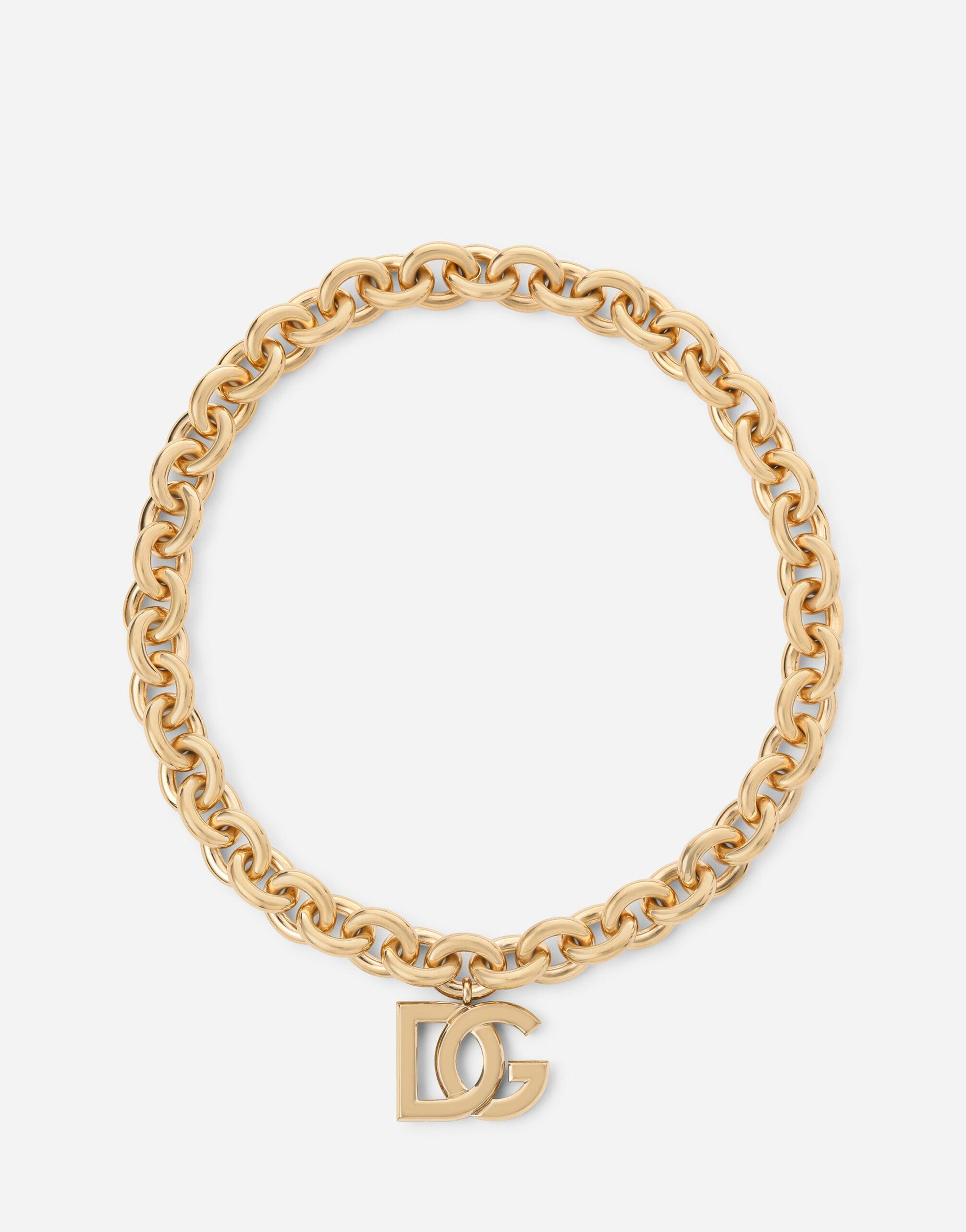 Logo necklace in yellow 18kt gold