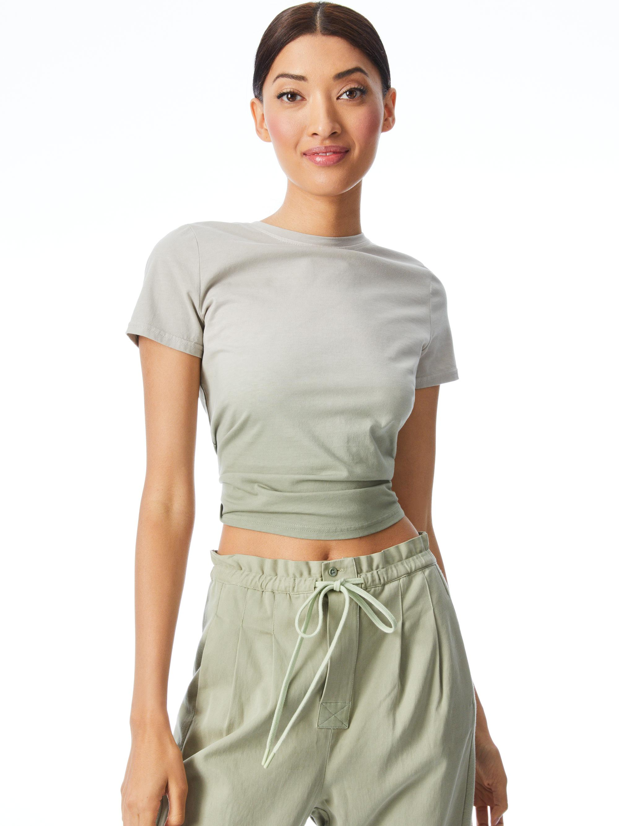 CINDY OMBRE CLASSIC CROPPED TEE